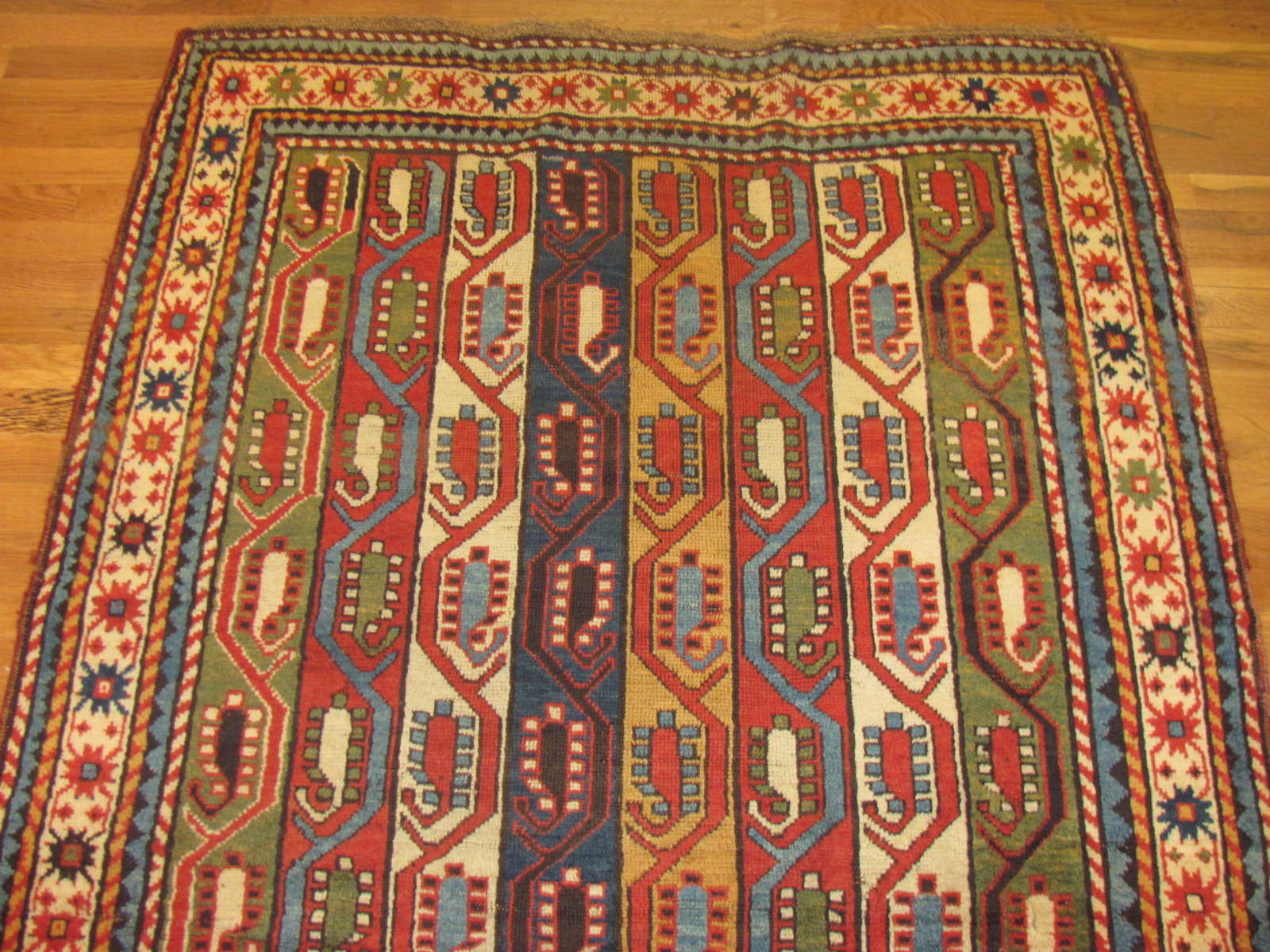 24512 Antique Caucasian Kazak rug 4,6 x 9,4 -1