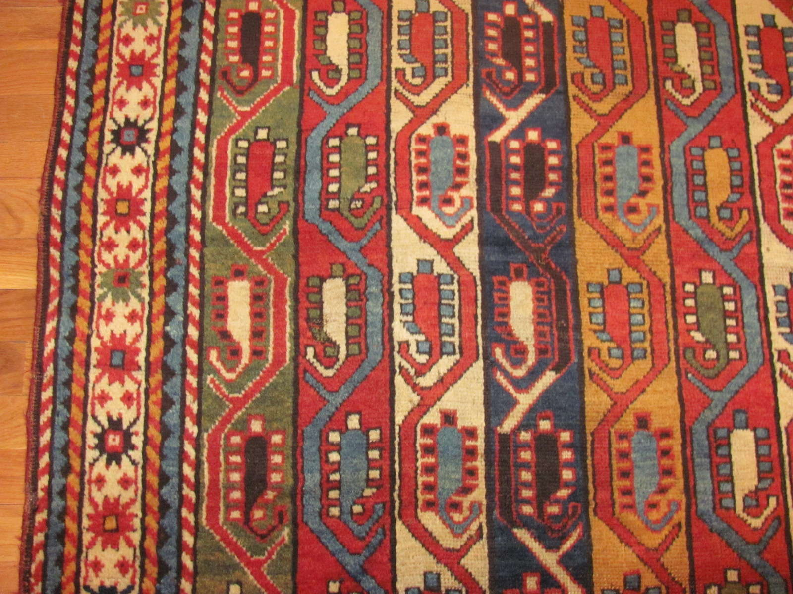 24512 Antique Caucasian Kazak rug 4,6 x 9,4 -2