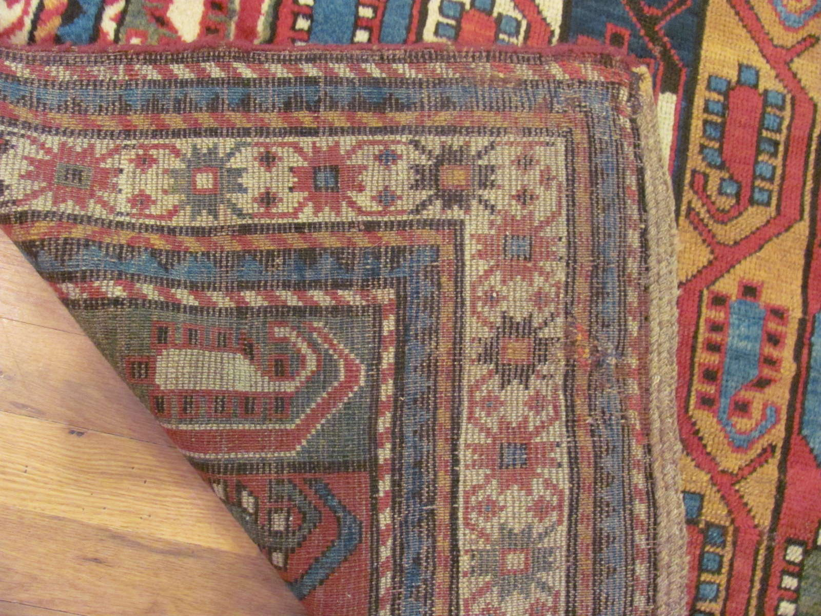 24512 Antique Caucasian Kazak rug 4,6 x 9,4 -3