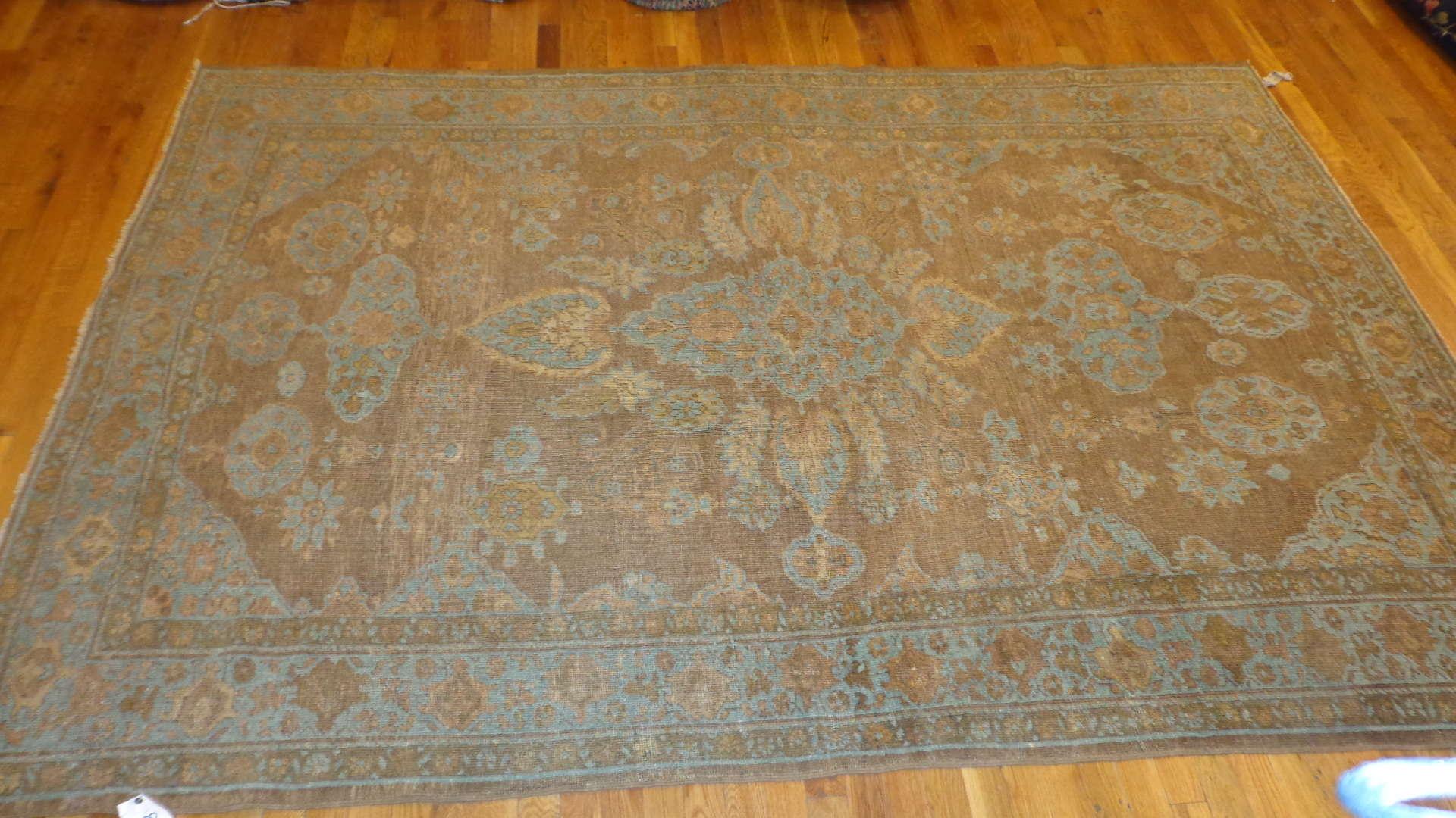 24519 antique Mahal rug 5,10 x 8,8 -2