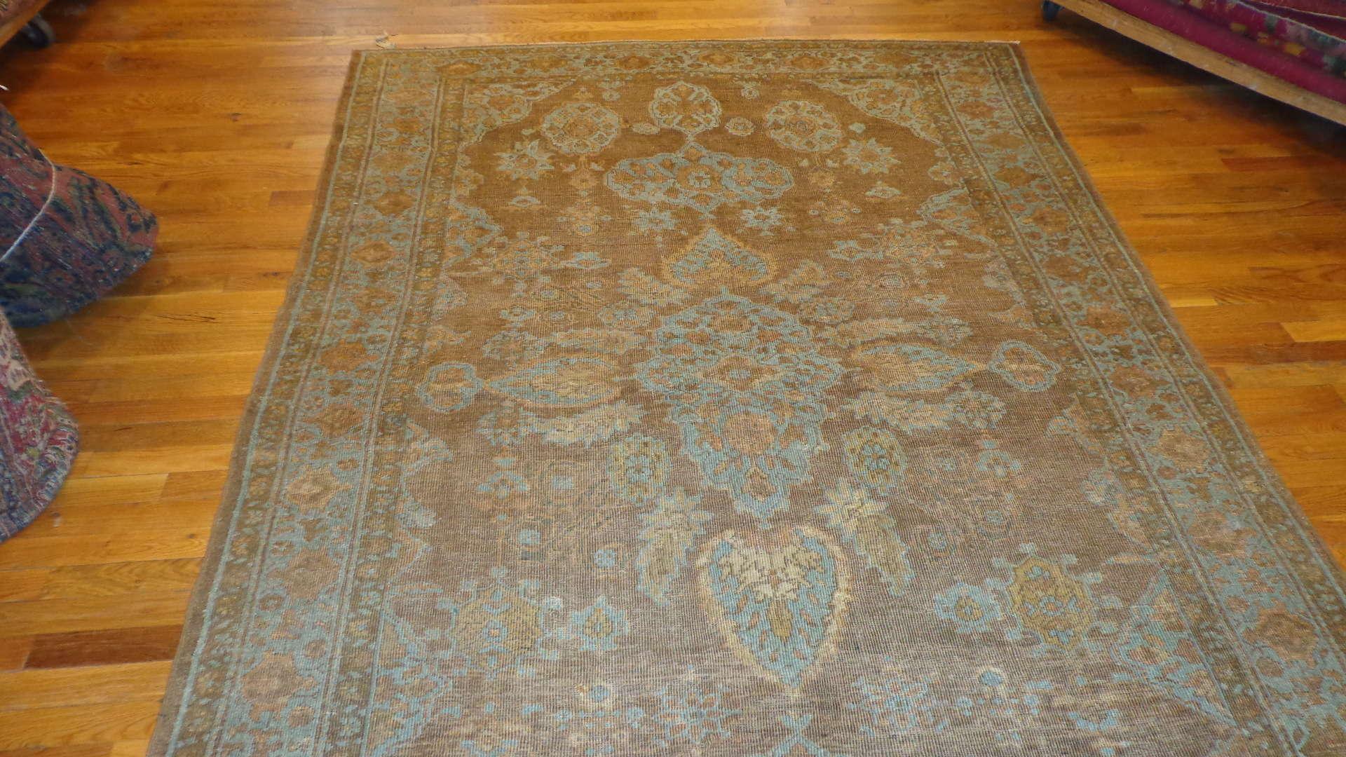 24519 antique Mahal rug 5,10 x 8,8