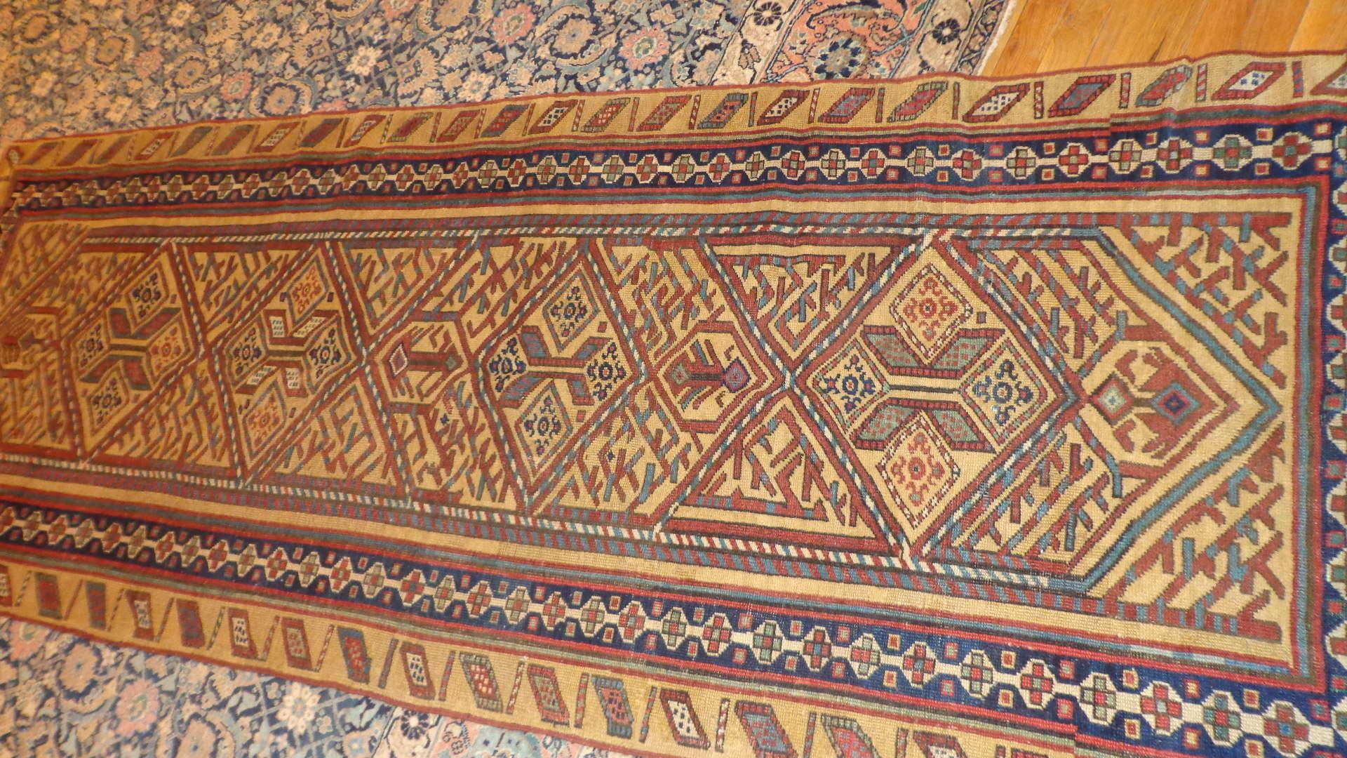 24520 Antique Bakshaish Persian runner rug 3,4 x 8,10 -2