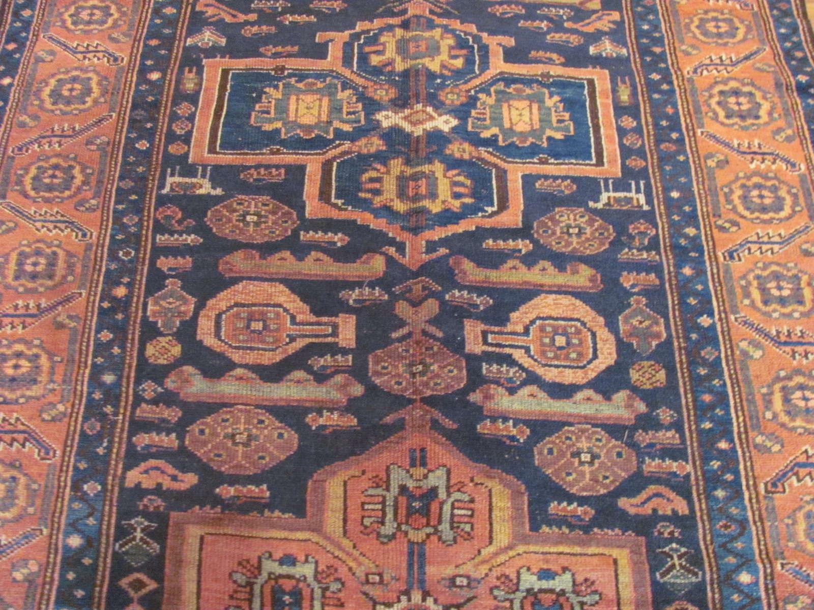 24531 antique Persian Kurd rug 4,9x8,3 (2)