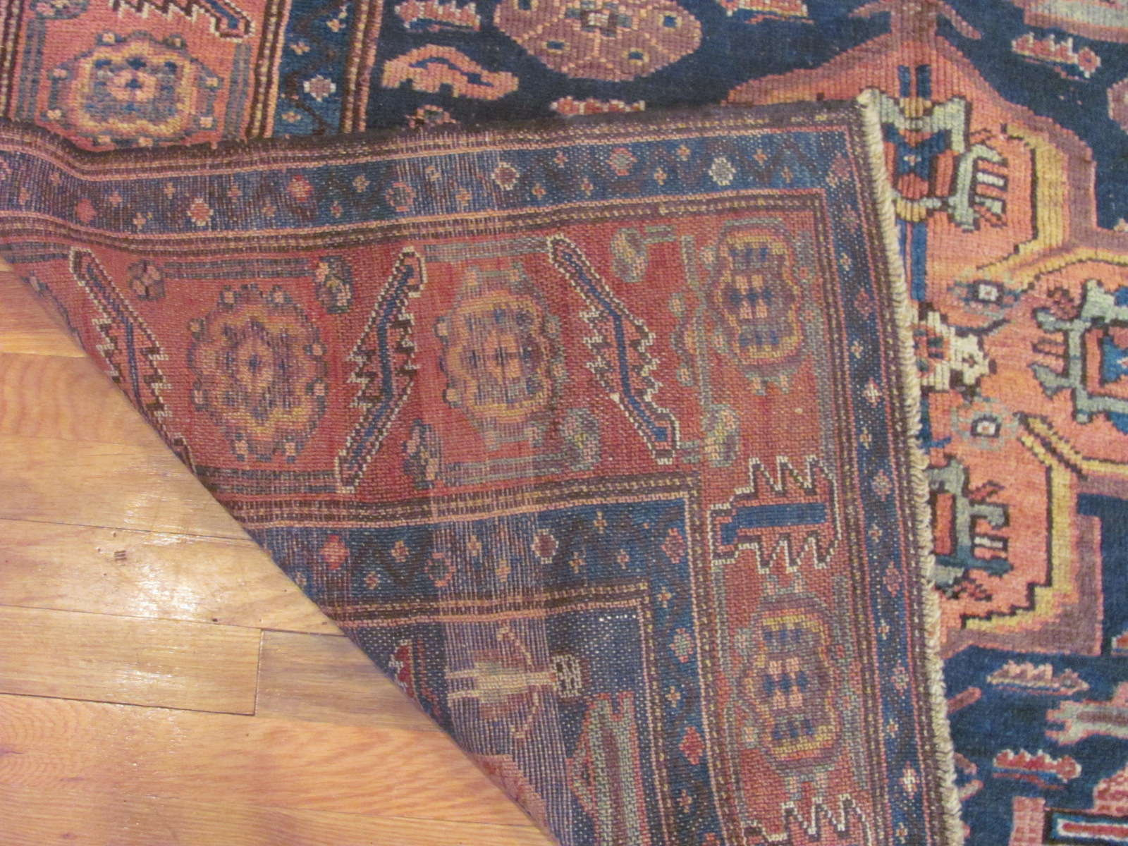 24531 antique Persian Kurd rug 4,9x8,3 (3)