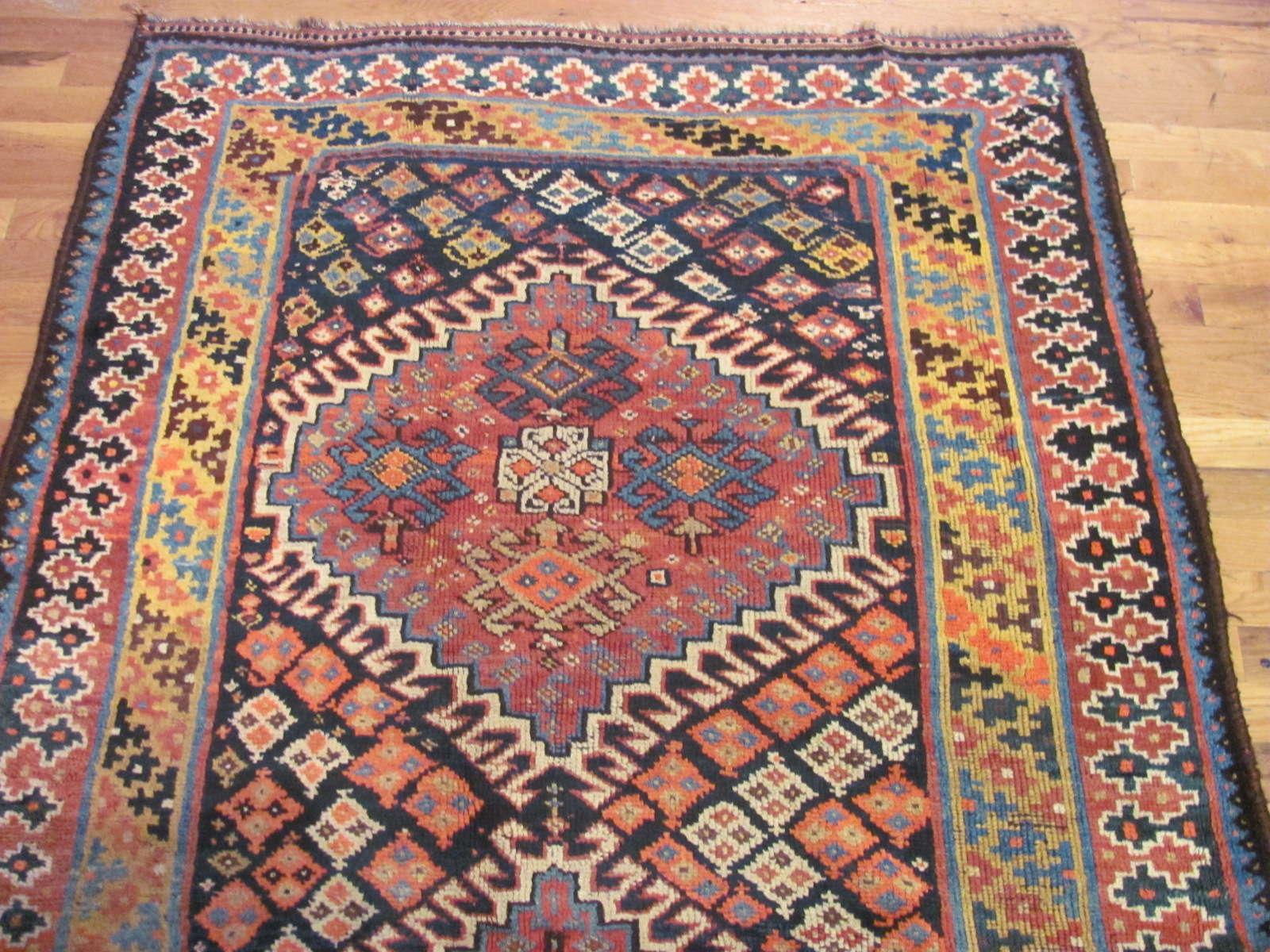 24544 antique persian kurd rug 4x7,9 -1