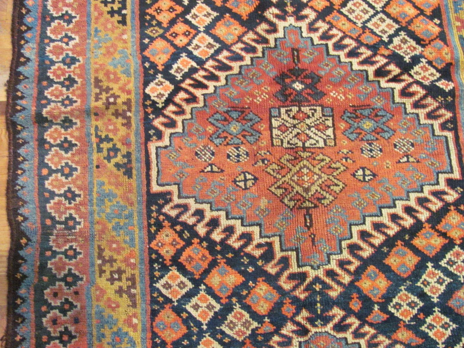 24544 antique persian kurd rug 4x7,9 -2