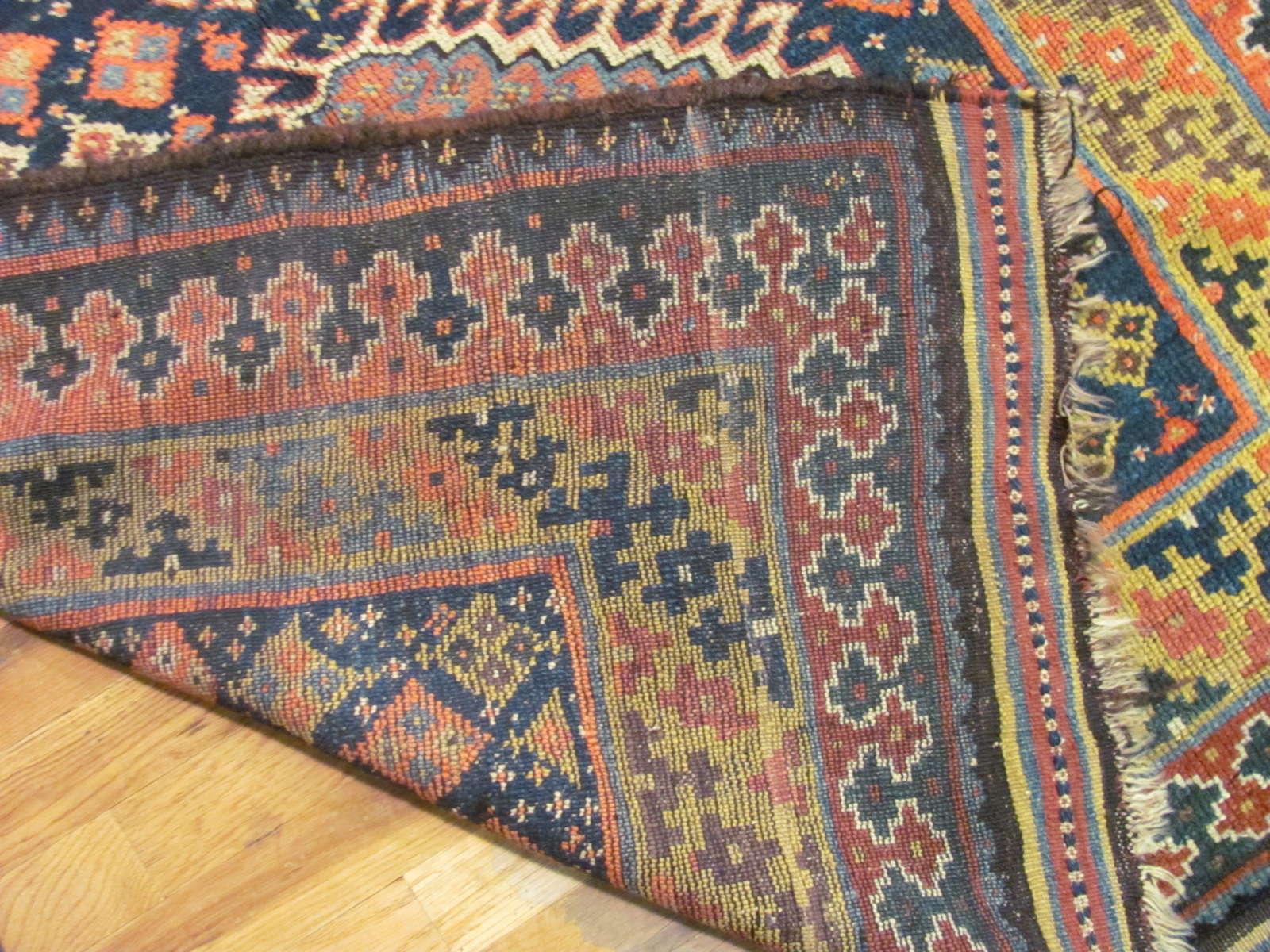 24544 antique persian kurd rug 4x7,9 -3