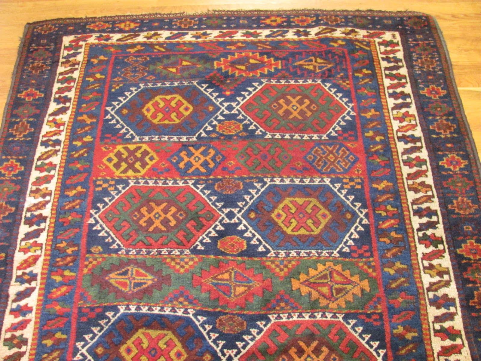 24554 antique persian joffee kurd rug 4,9x7,9 -1