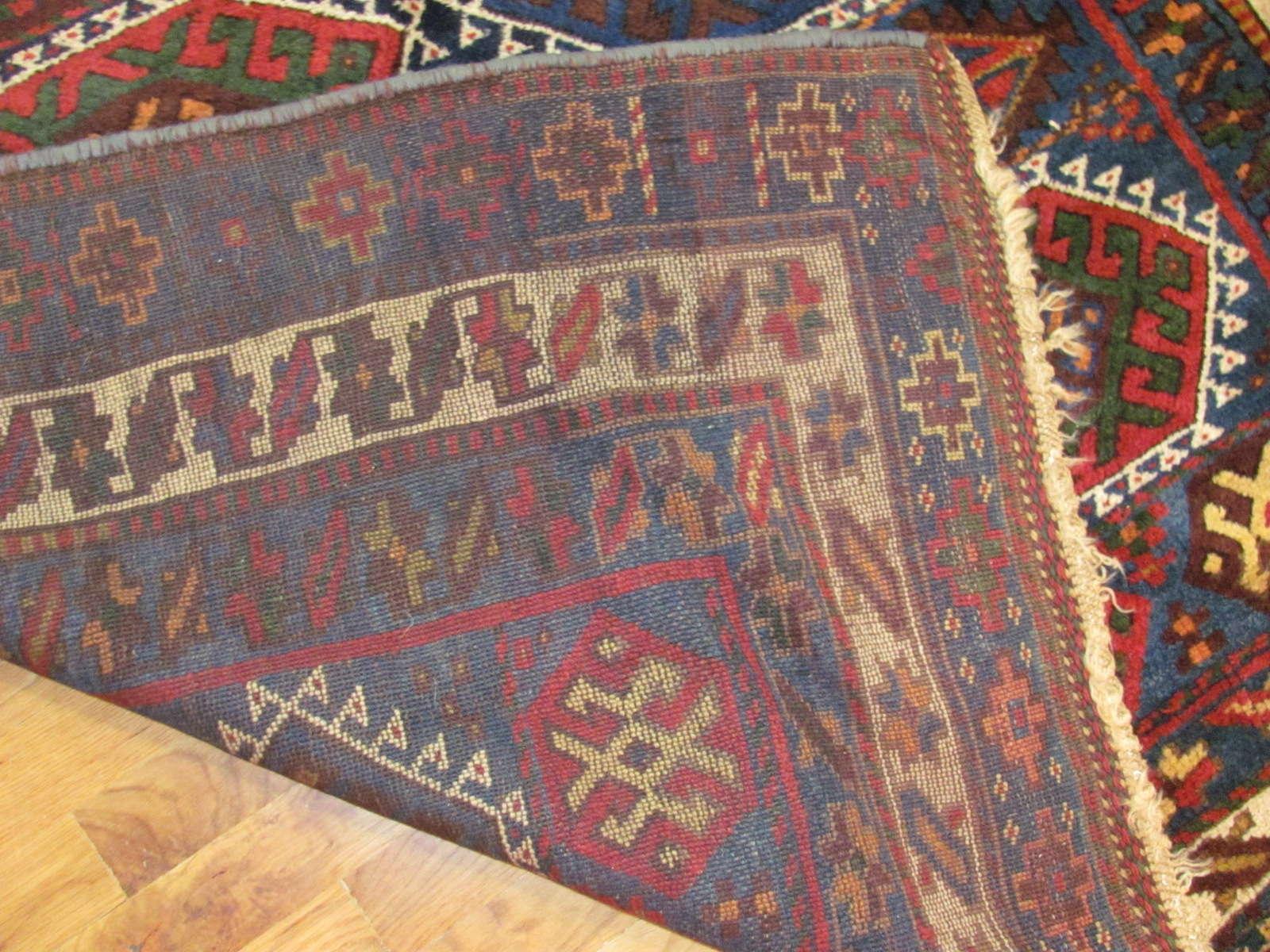 24554 antique persian joffee kurd rug 4,9x7,9 -3