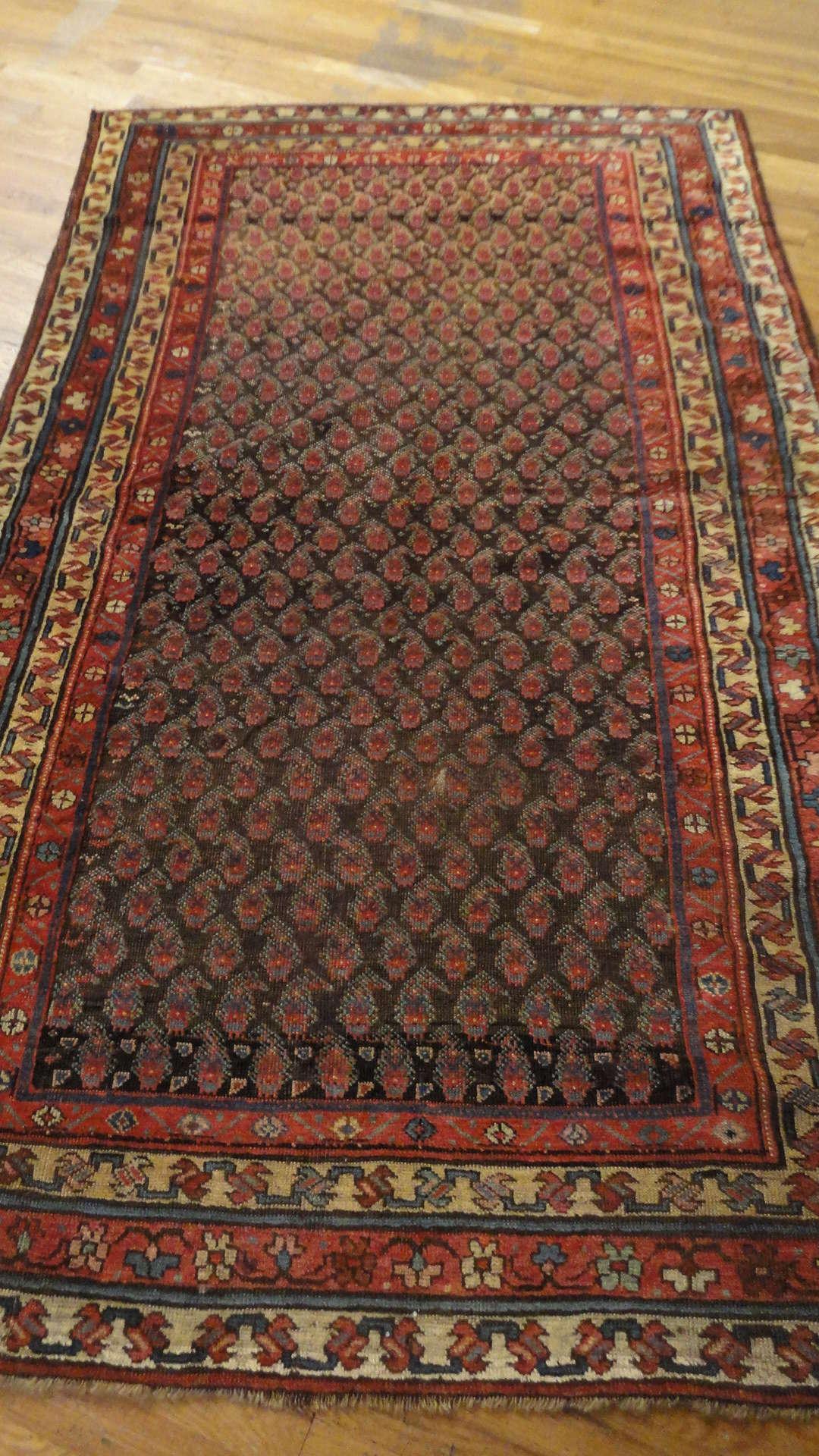 24566 antique persian kurd rug 5x8