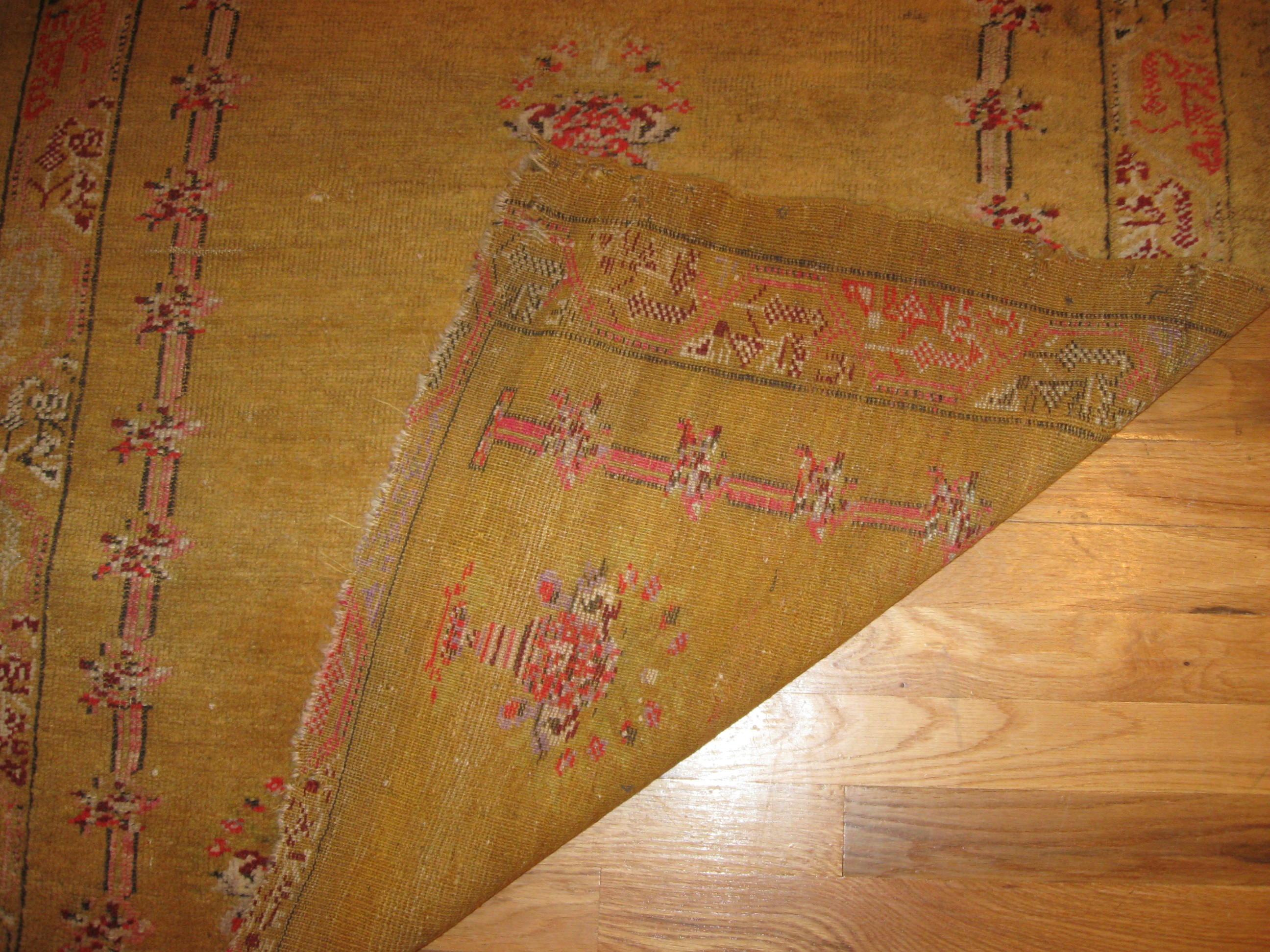 24636 Antique Anatolian Oushak 3,2 x 5,2 -1