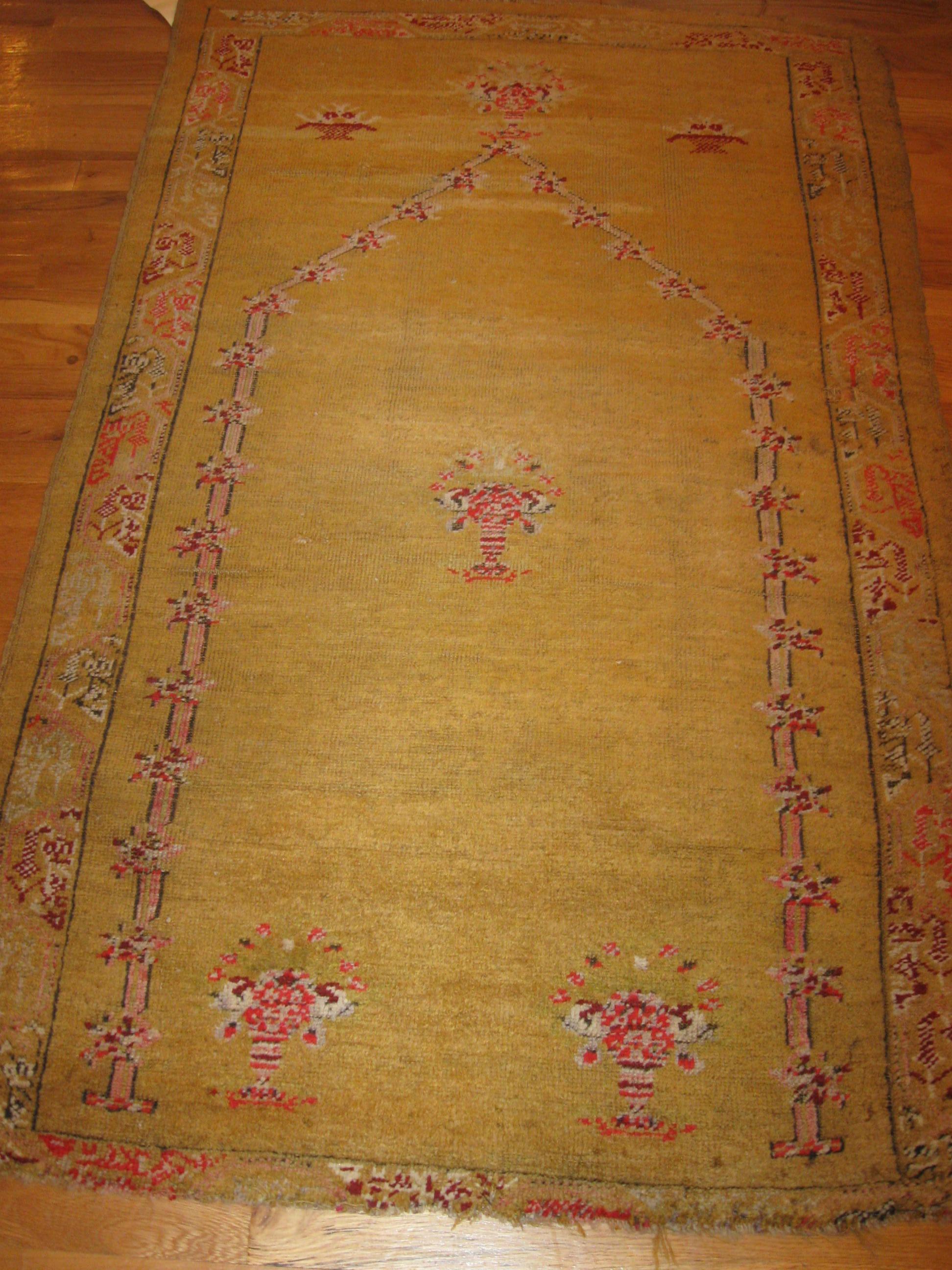 Oushak Rug  Anatolia, Antique 1880's