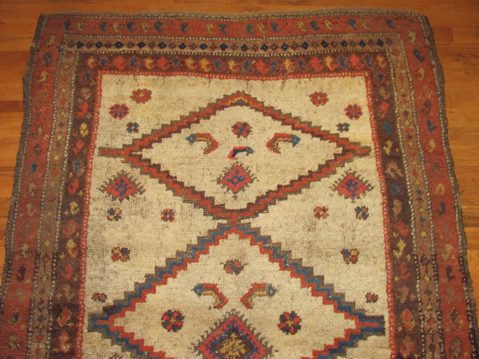 24639 antique persian kurd rug 3,9 x 5,7 -1