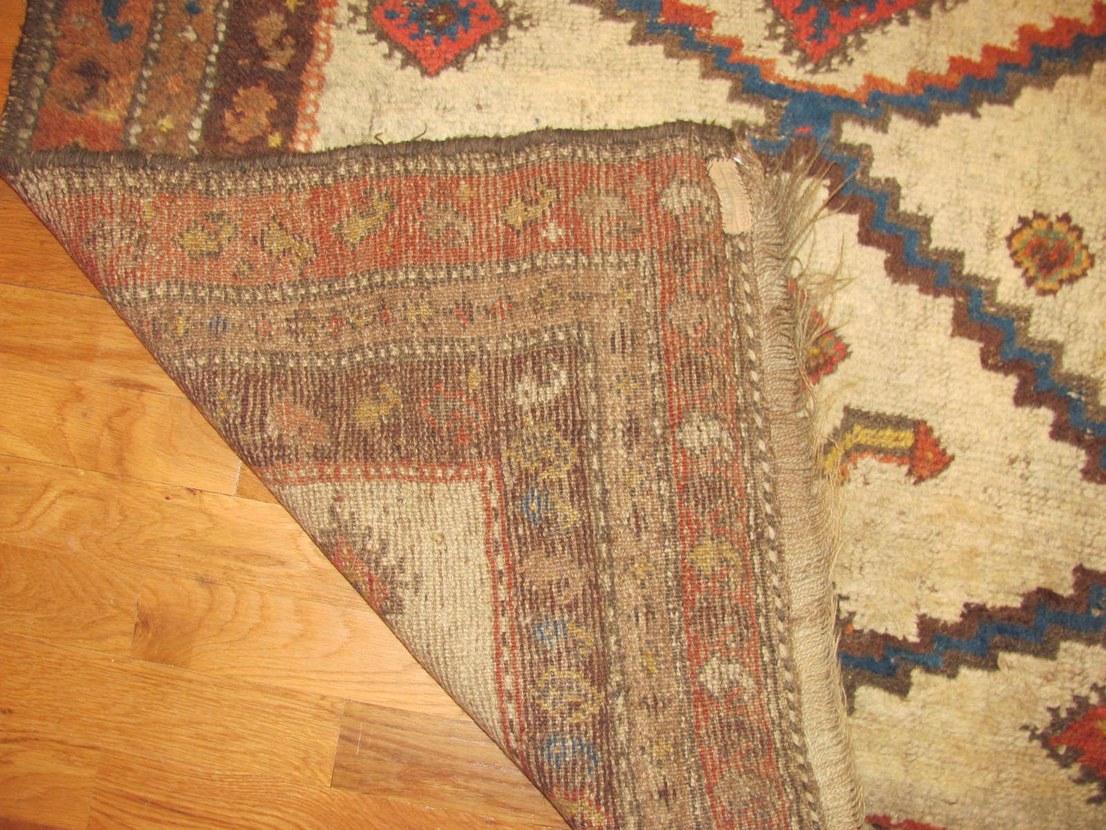 24639 antique persian kurd rug 3,9 x 5,7 -2