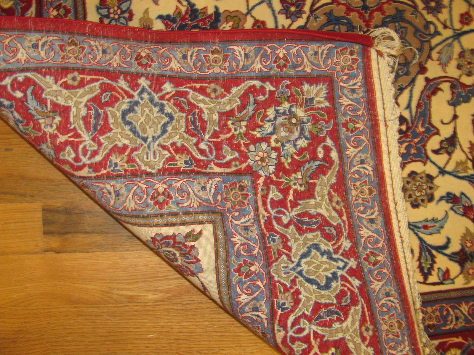 24661 persian Isfahan kork wool & silk rug 3,5 x 5,3 -2