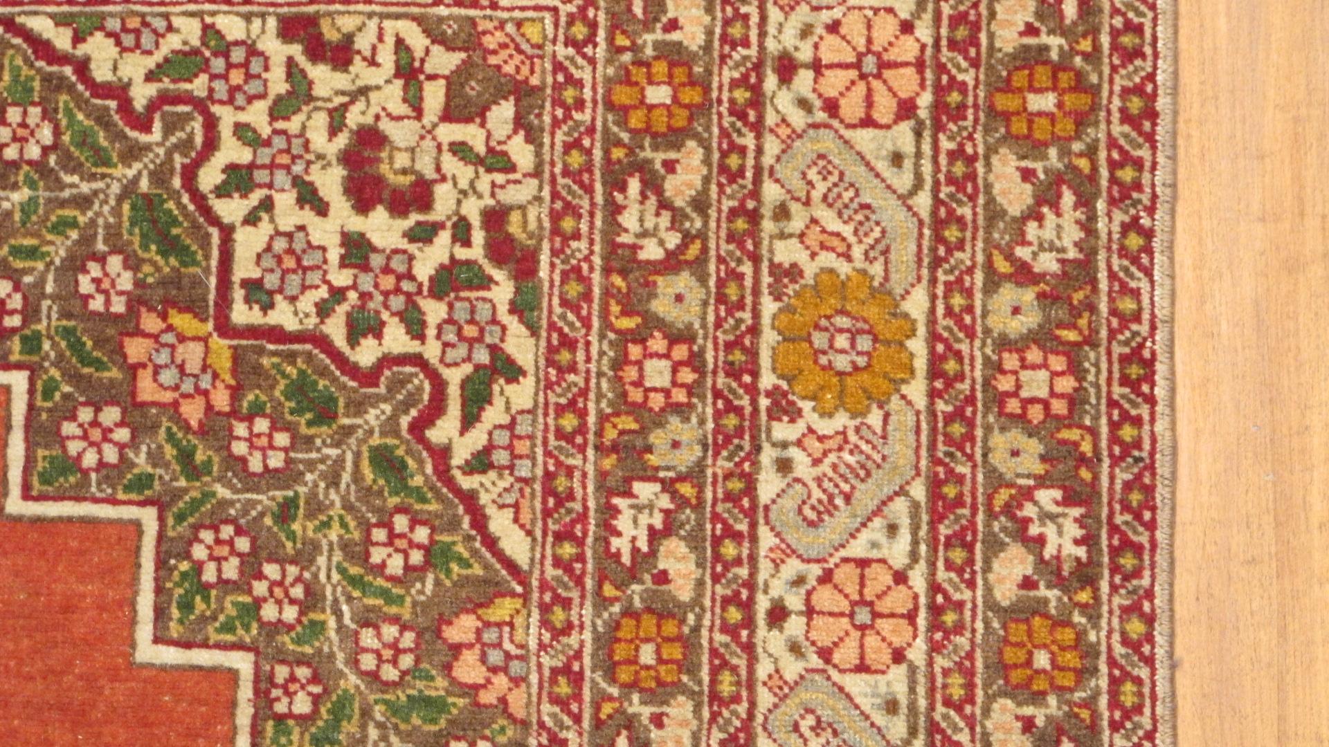 12512 antique tabriz persian rug (2)