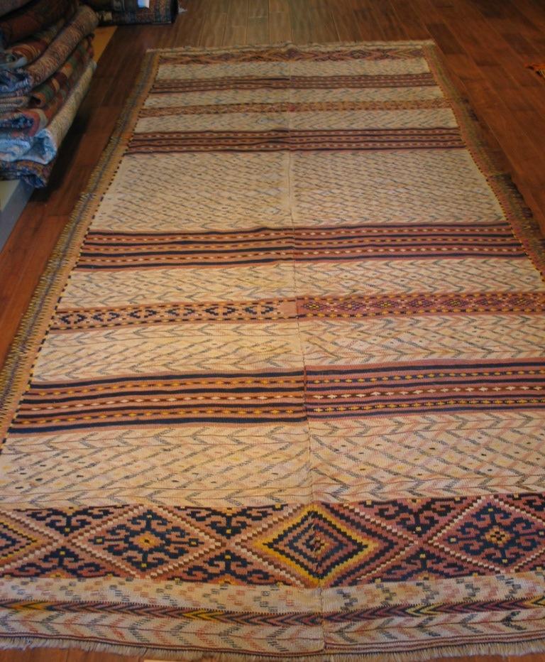 Kilim | Morocco | Embroidered, Handmade | Circa 1940