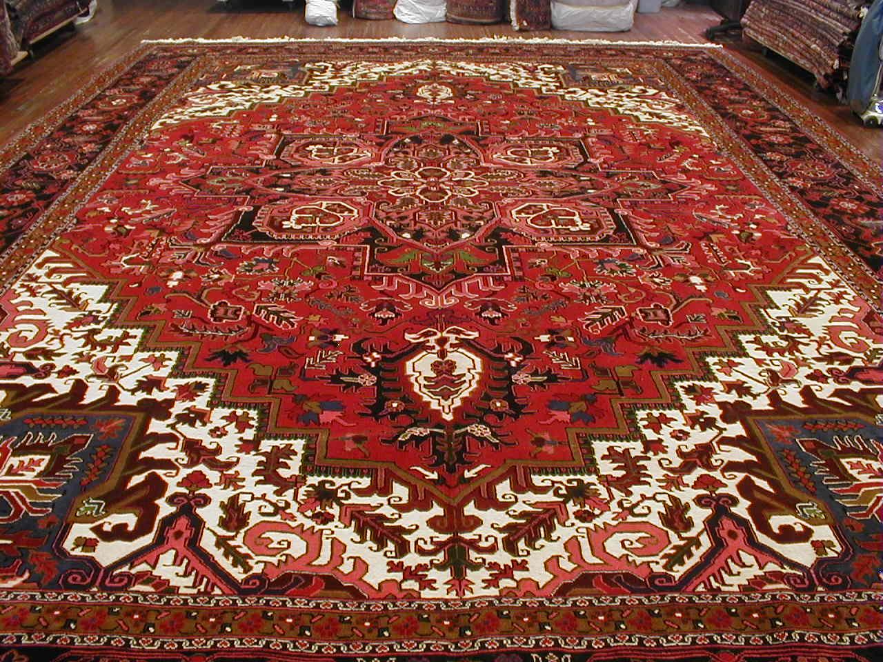 Heriz Hall Runner Rug | Persia | Handmade | Circa 1980