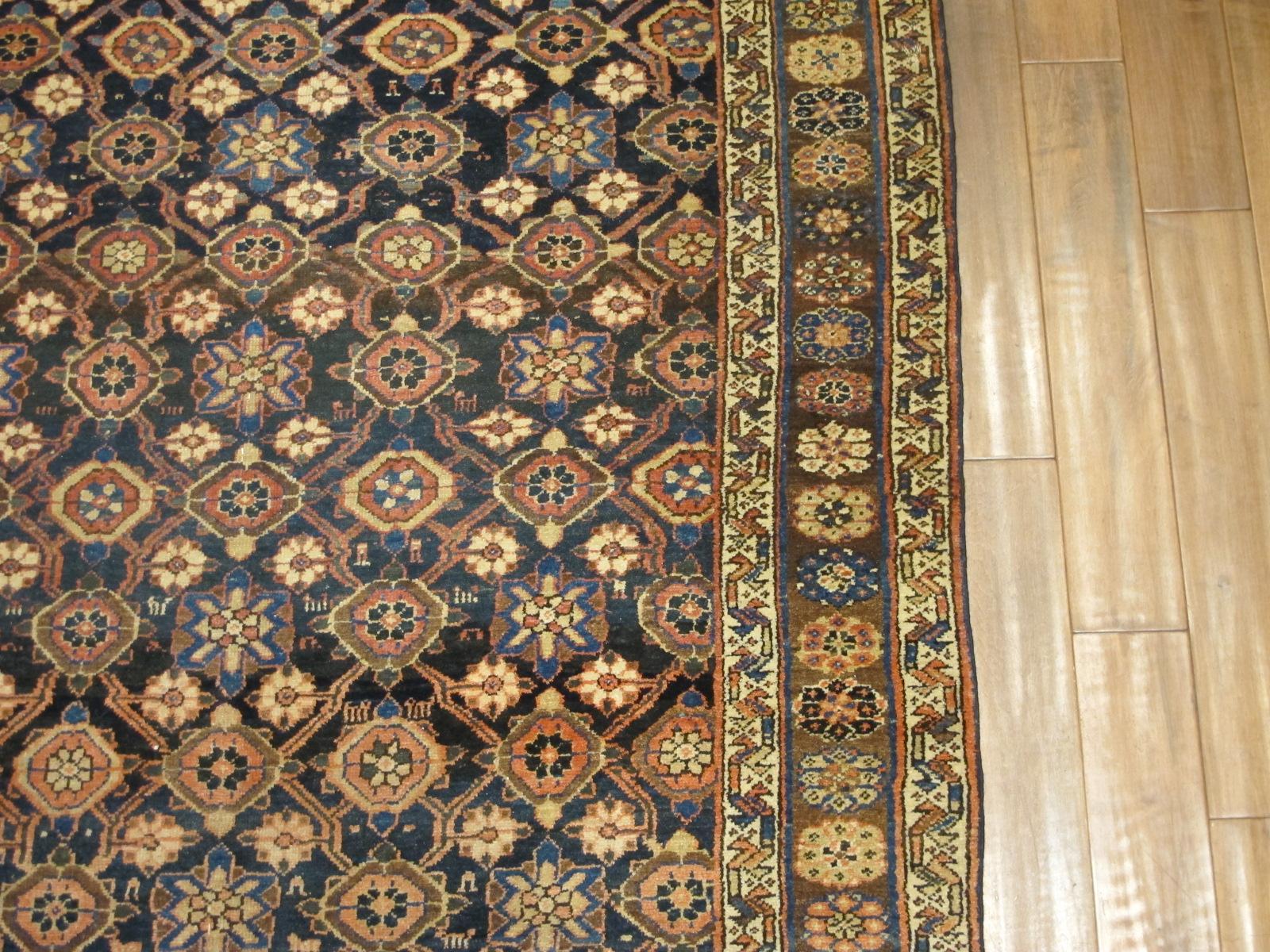 22148 Antique Persian Veramin gallery rug 5,5 x 11,2 (4)