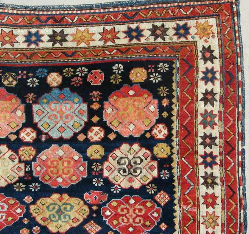 22157 antique kazak caucasian rug (1)