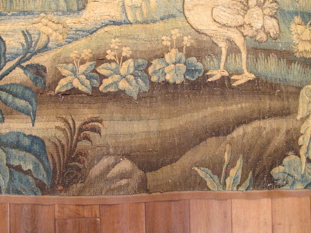 23041 antique european Tapestry 6'7x6'7 (2)