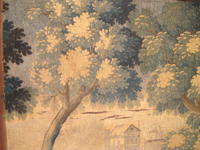 23041 antique european Tapestry 6'7x6'7 (3)
