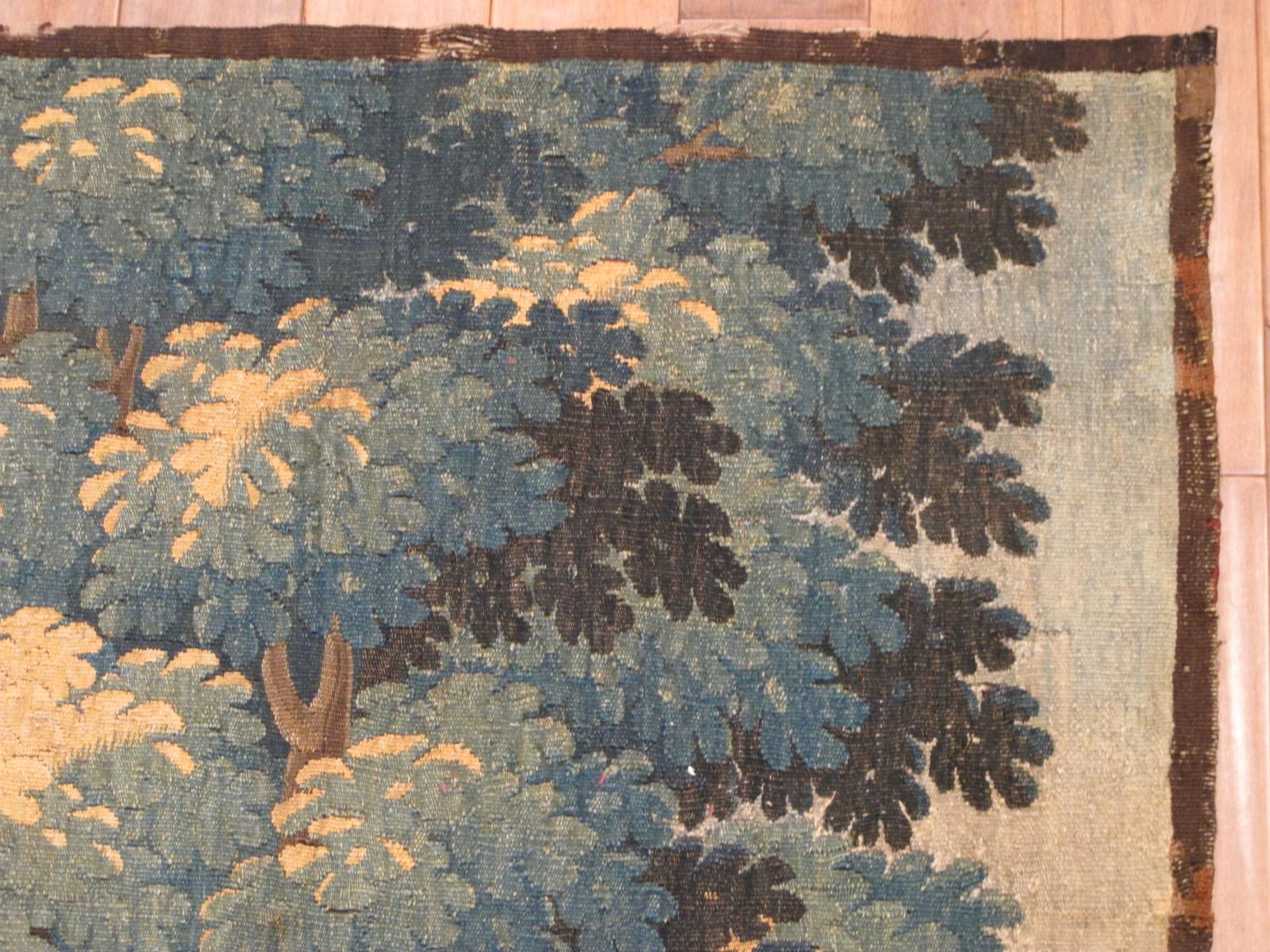 23041 antique european Tapestry 6'7x6'7 (4)