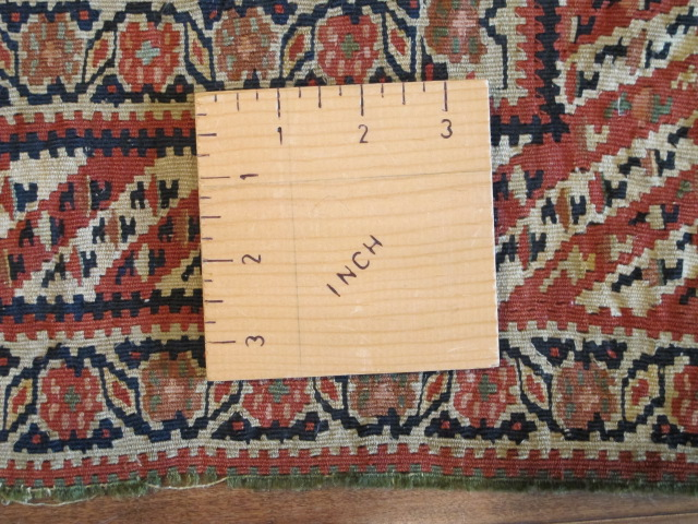 23074 Antique Persian Senneh kilim  (2)
