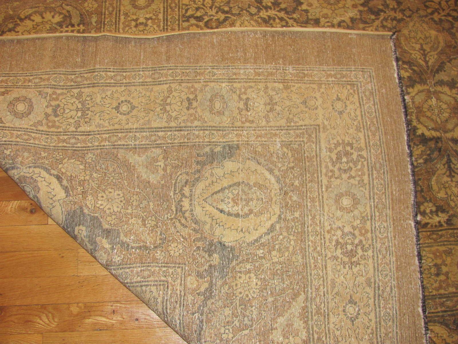 24108 antique Persian tabriz hadj jalili 14,5x21,4 -3