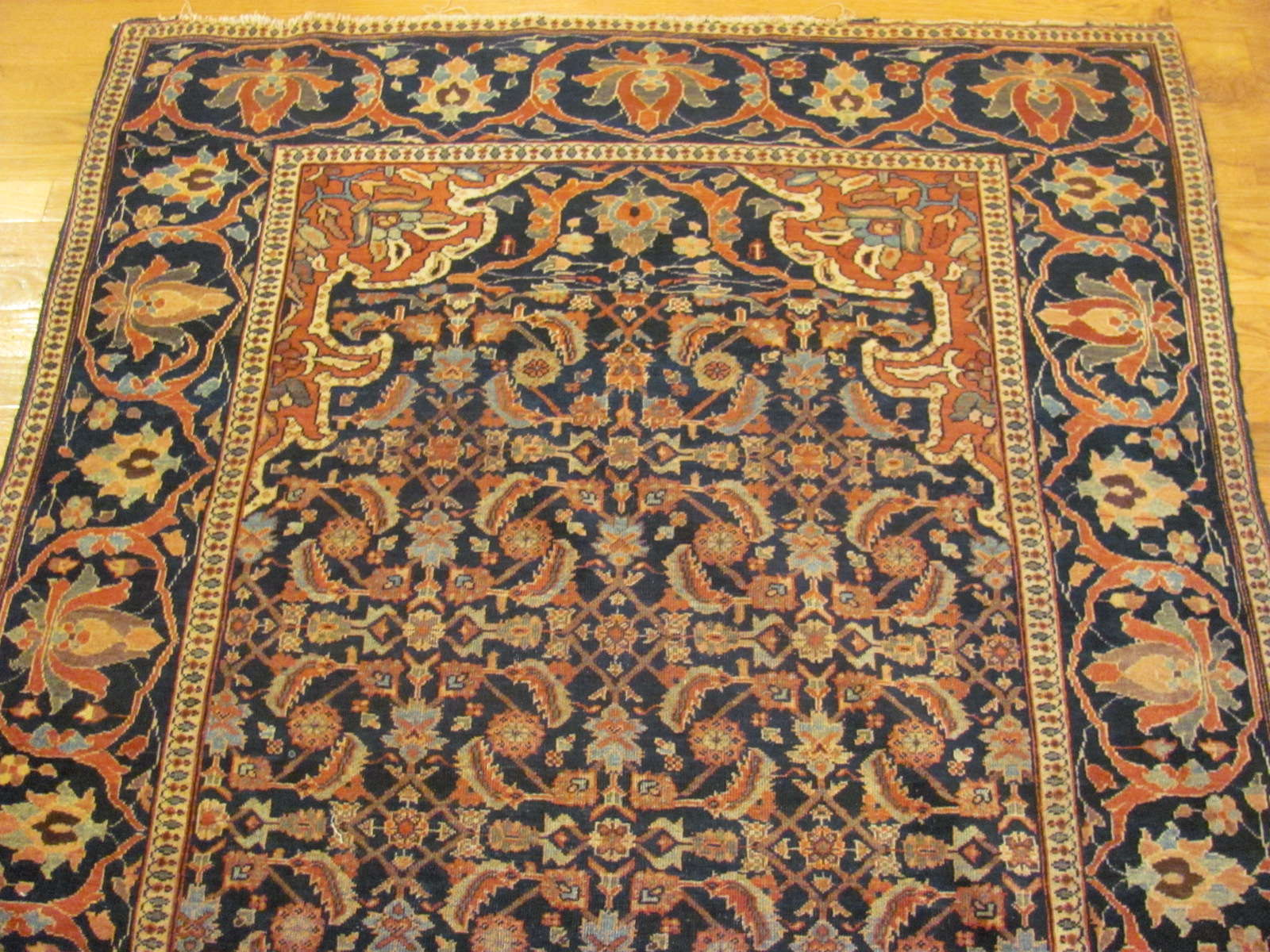 24602 antique Persian Sarouk Ferahan rug 4,2 x 6, 10 -1