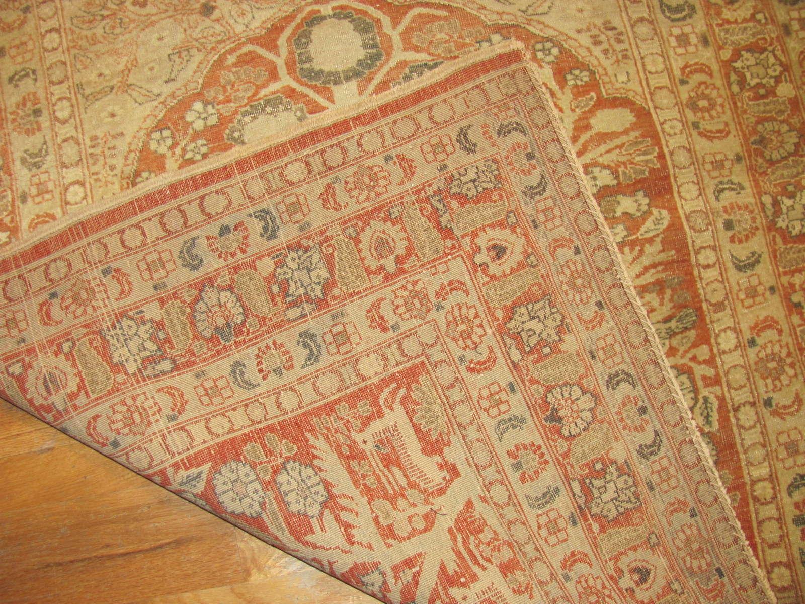 24668 antique persian tabriz prayer rug 4 x 4,8 -2