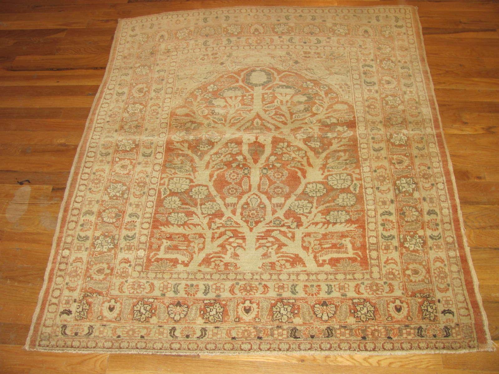 Tabriz Rug   Persia   Antique   Handmade, Circa 1900