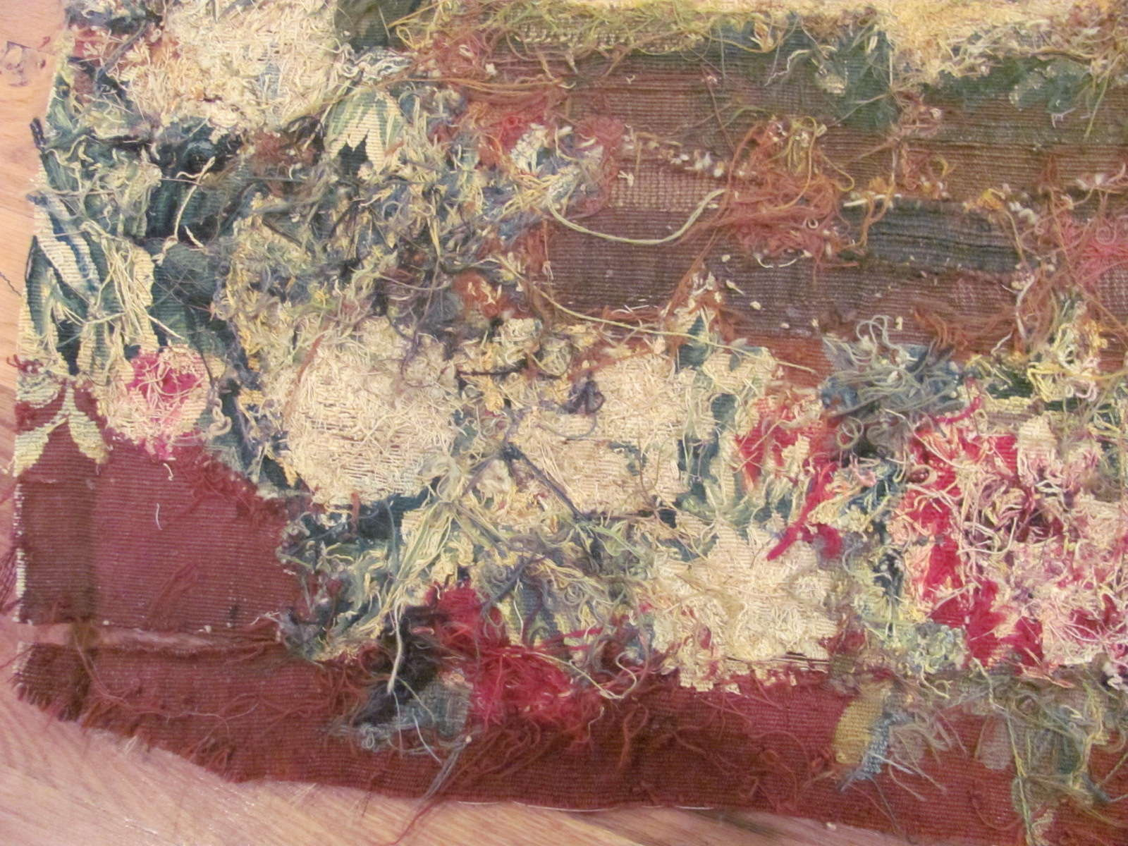 24692 antique french aubusson tapestry 2,4 x 5,7 -3
