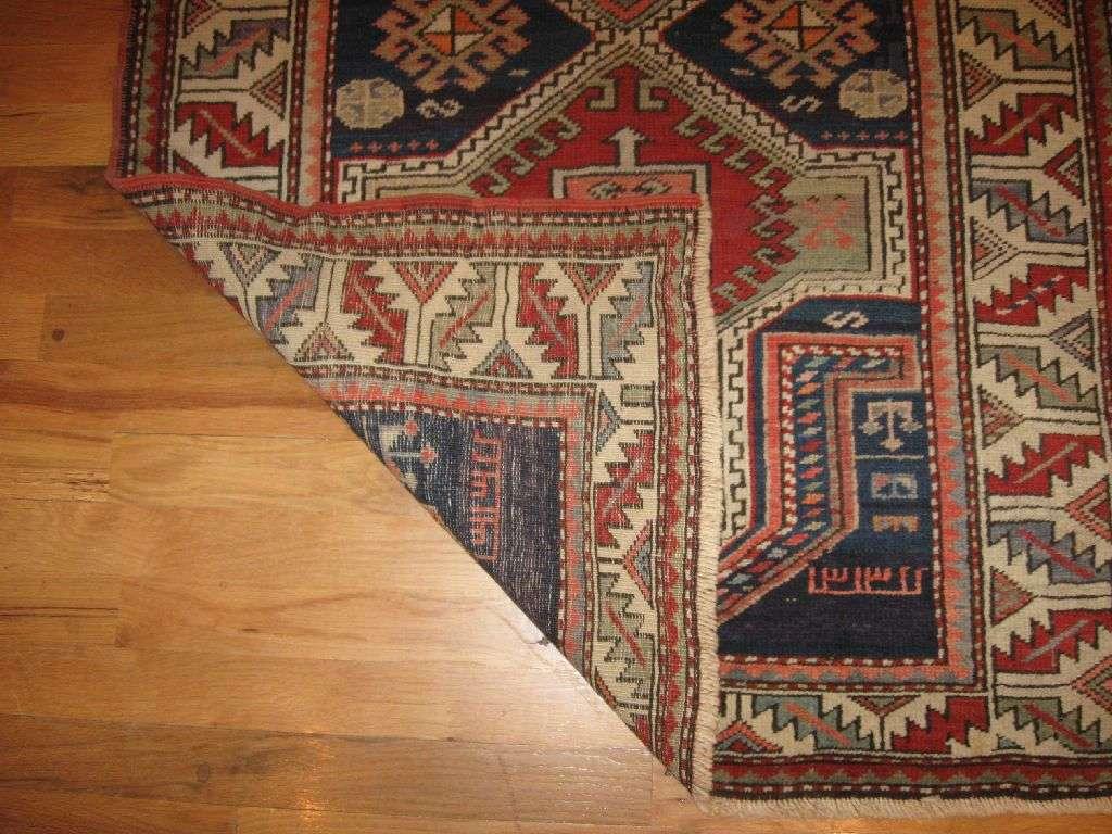 24723 antique caucasian shirvan rug 3 x 4,6 -1