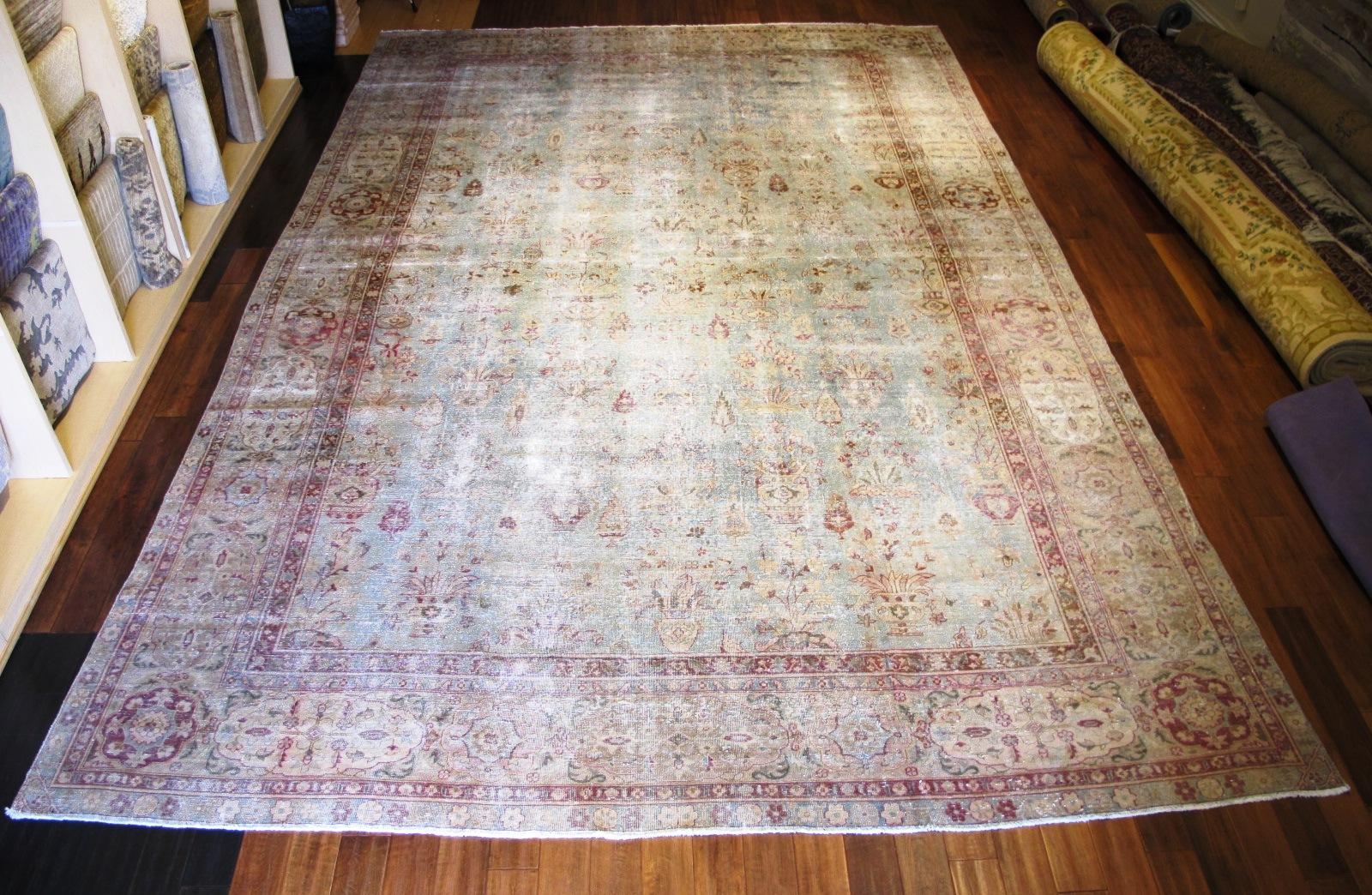 13061 Tabriz vase pattern rug 11,8 x 18,3 (1)