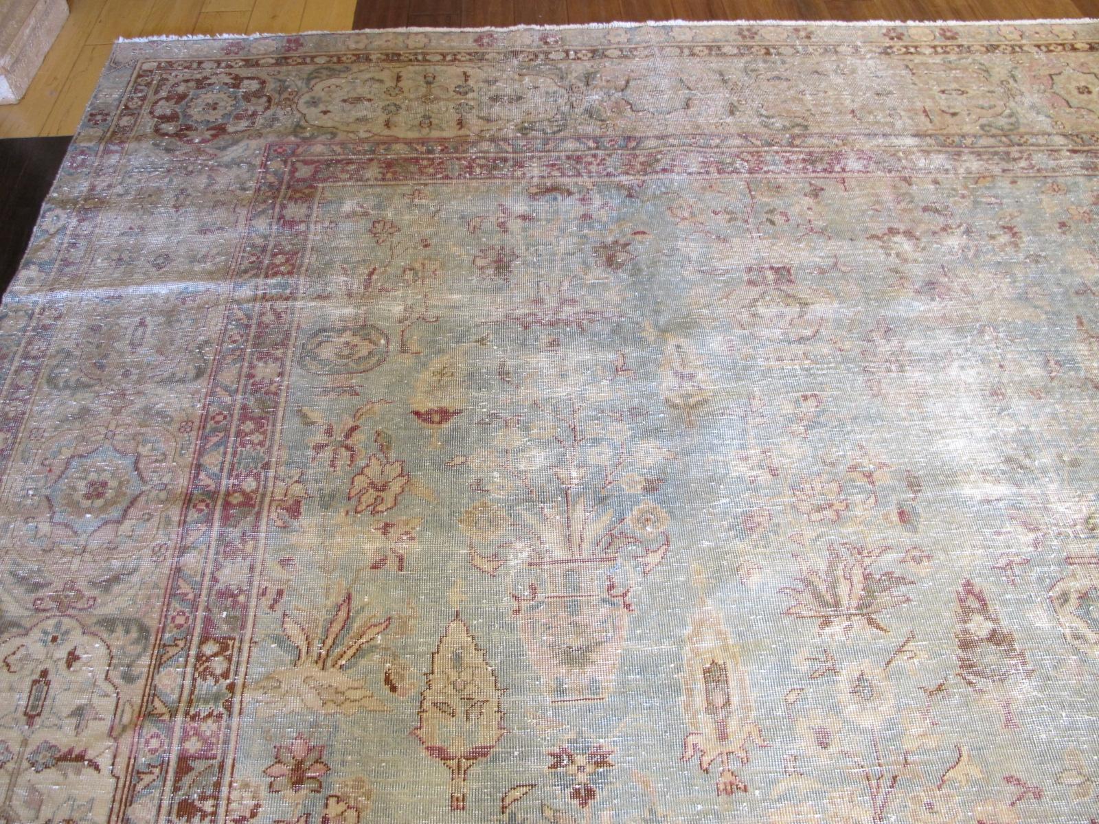 13061 Tabriz vase pattern rug 11,8 x 18,3 (4)