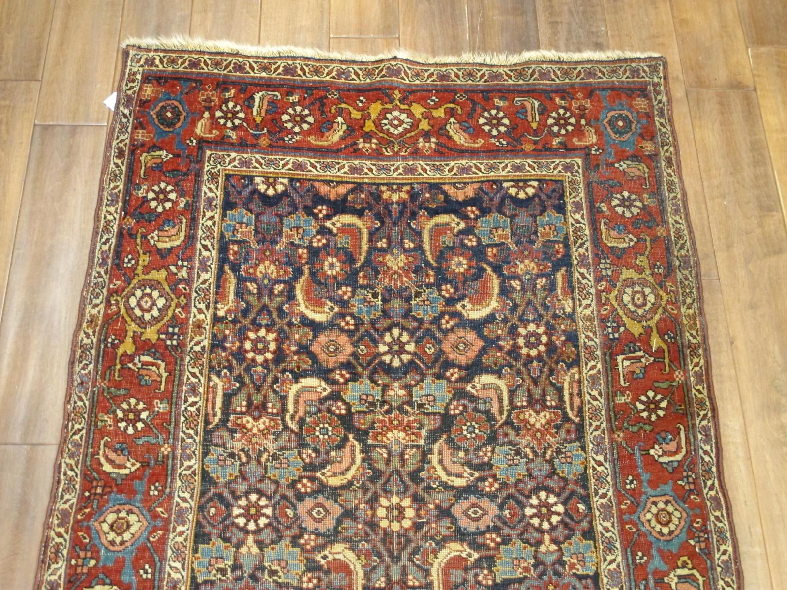 13078 antique persian bidjar runner 3,6x13,4 (3)