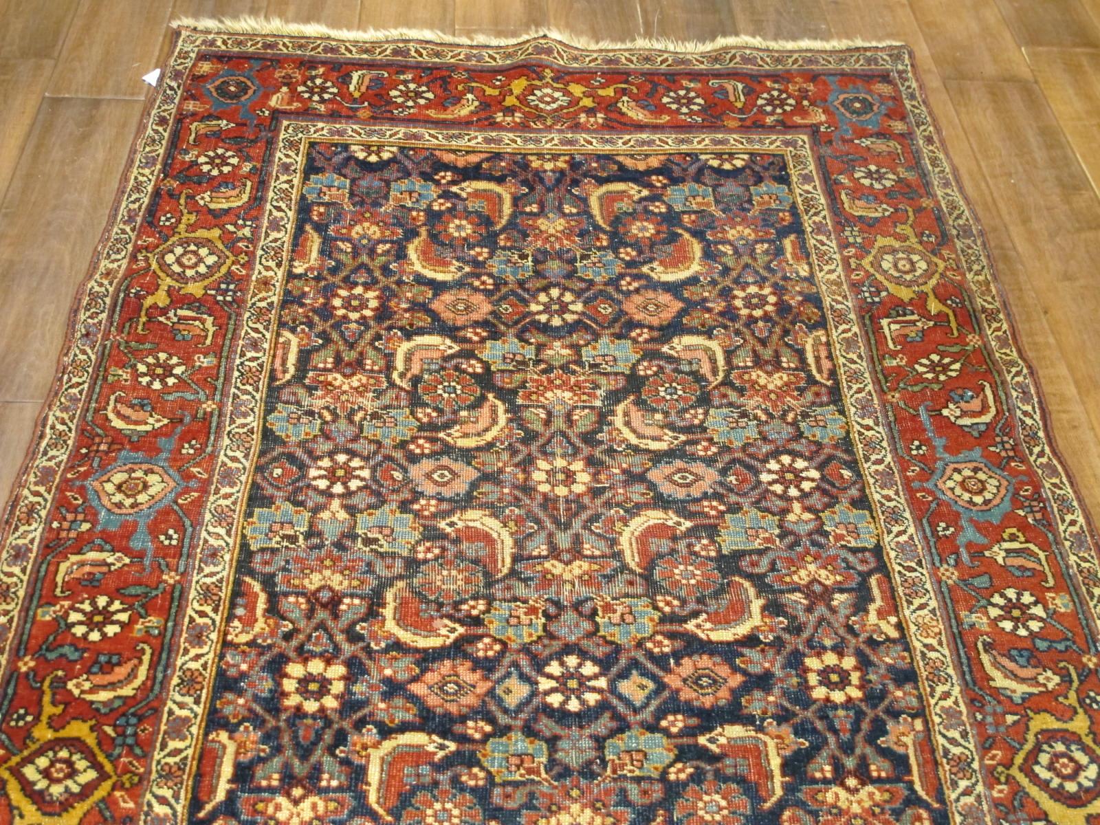 13078 antique persian bidjar runner 3,6x13,4 (4)
