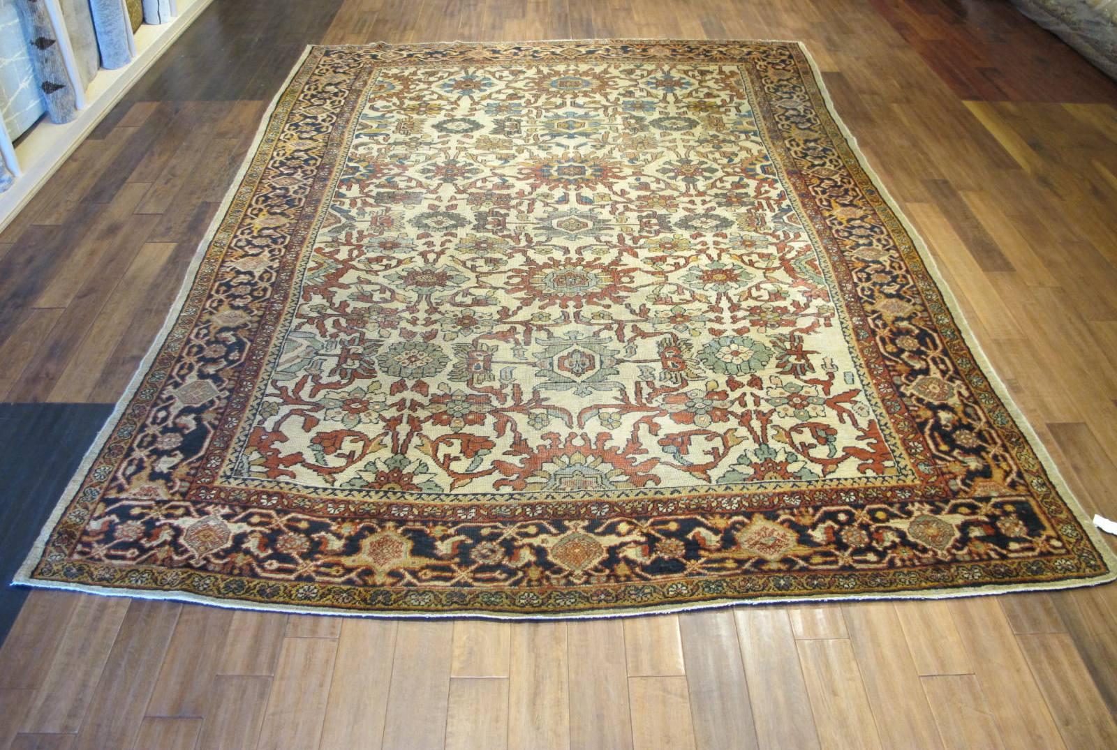 21432 antique persian mahal rug 8,9x12,4 (2)