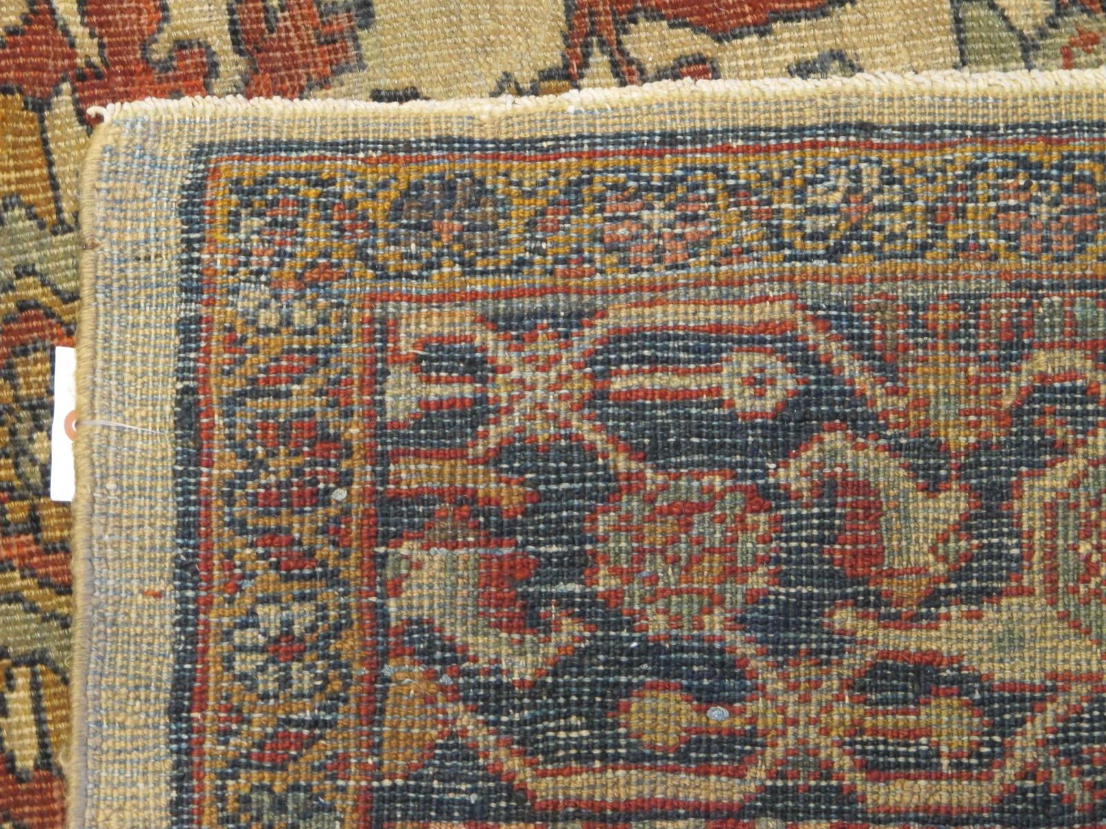 21432 antique persian mahal rug 8,9x12,4 (6)