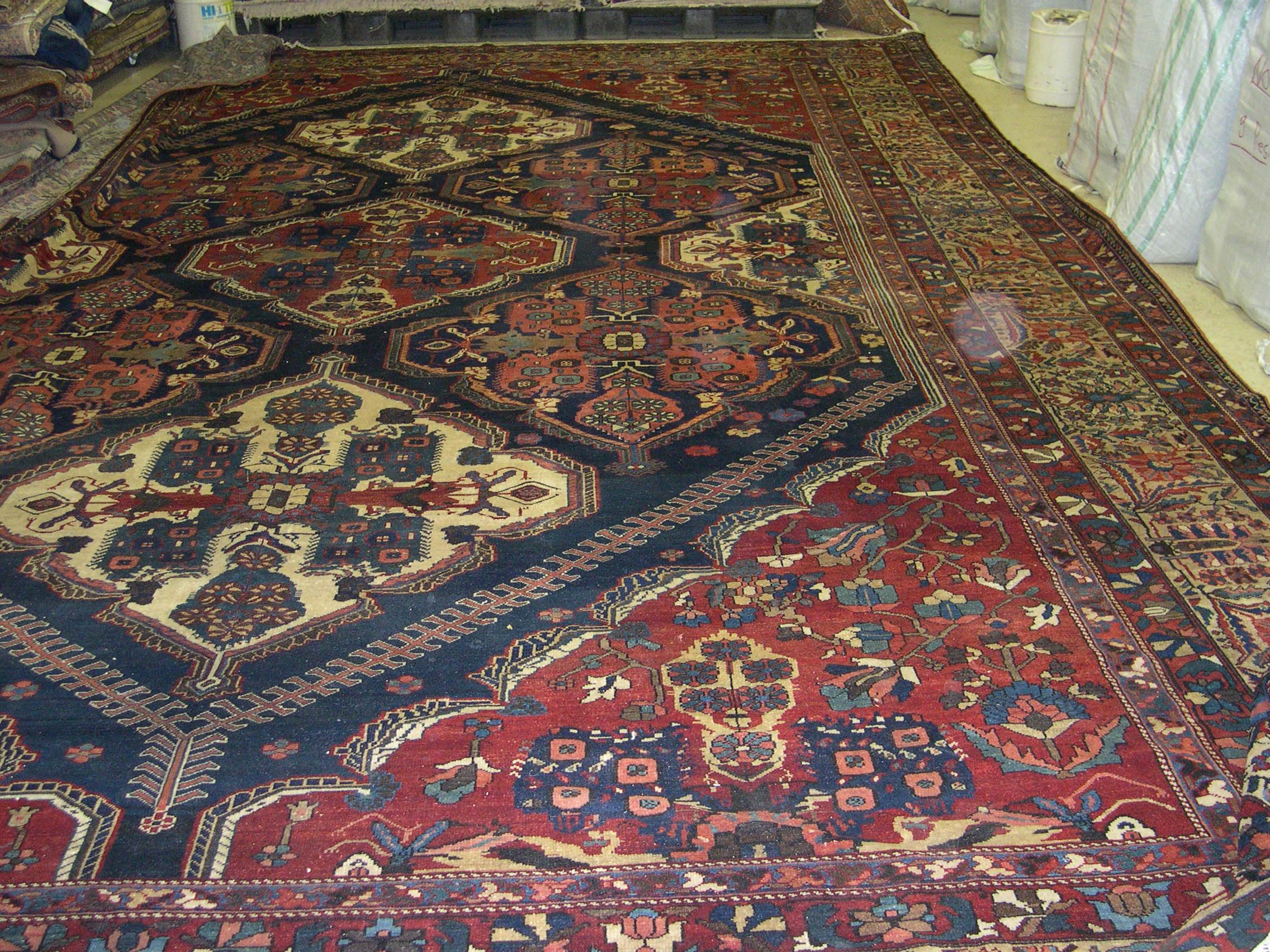 Bakhtiar Rug | Persian | Handmade | Antique, Circa 1900