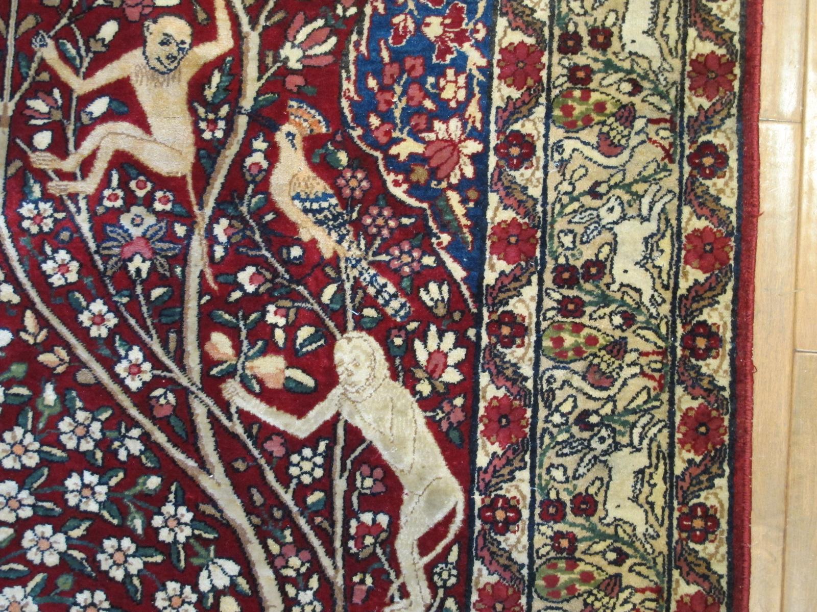 21427 antique persian kerman laver rug 4,6 x 6,4 (2)