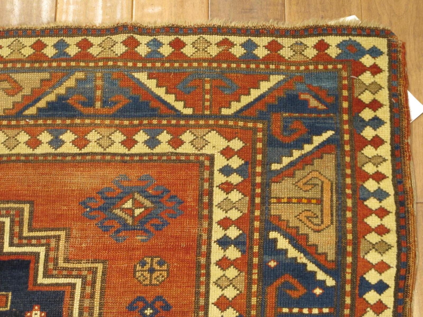 23087 antique caucasus kazak rug 5,2x7,4 (3)