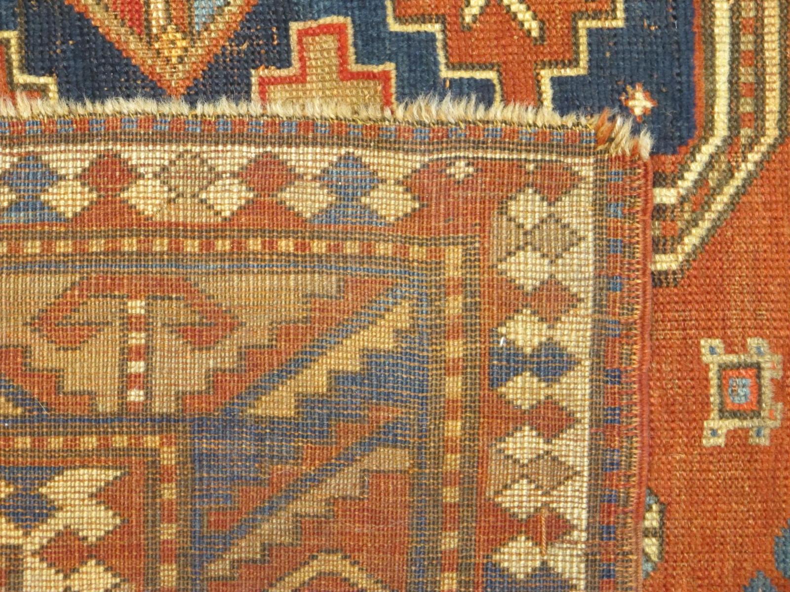 23087 antique caucasus kazak rug 5,2x7,4 (5)