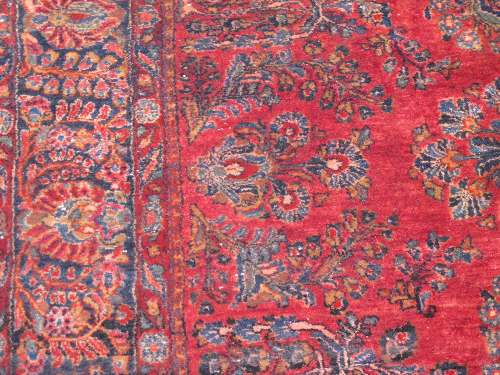 13090 Persian Sarouk rug 8x9,3 (7)