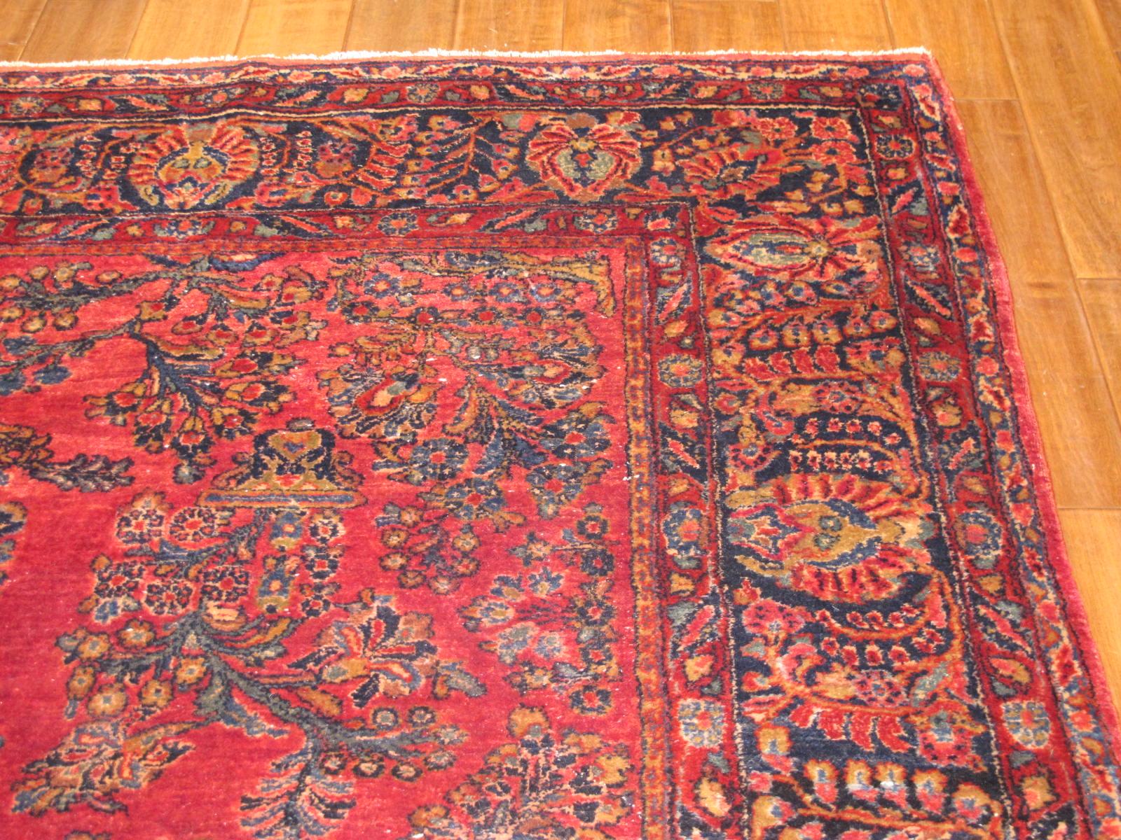 13090 Persian Sarouk rug 8x9,3 (8)