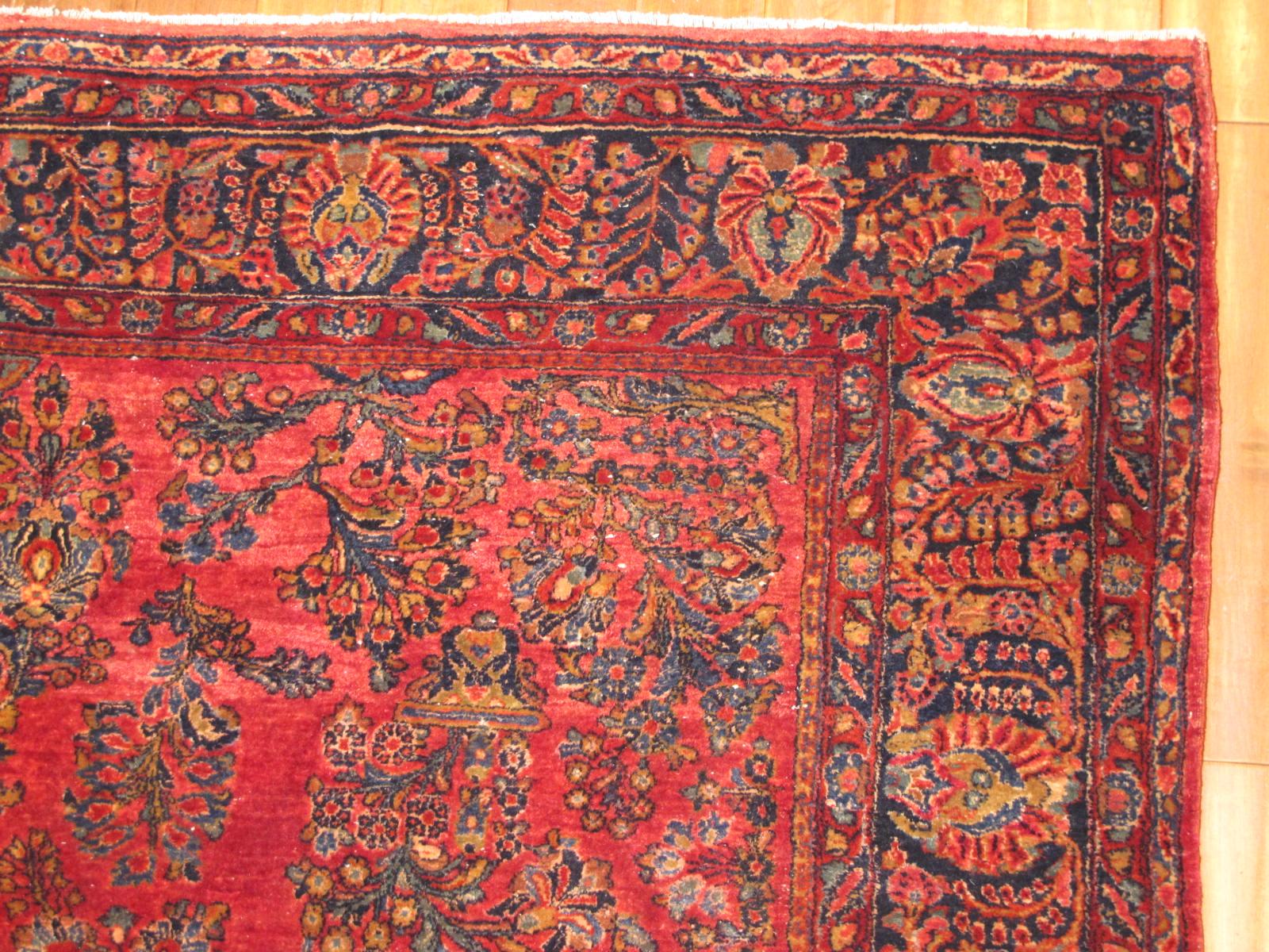 13090 Persian Sarouk rug 8x9,3 (9)