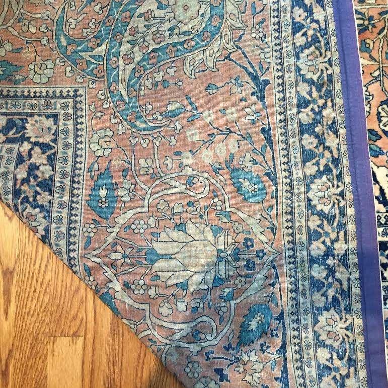 24733 antique persian kashan mohtashem 14x24-
