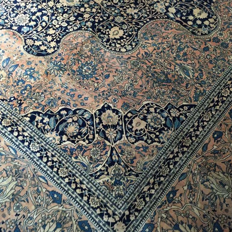 24733 antique persian kashan mohtashem 14x24-2