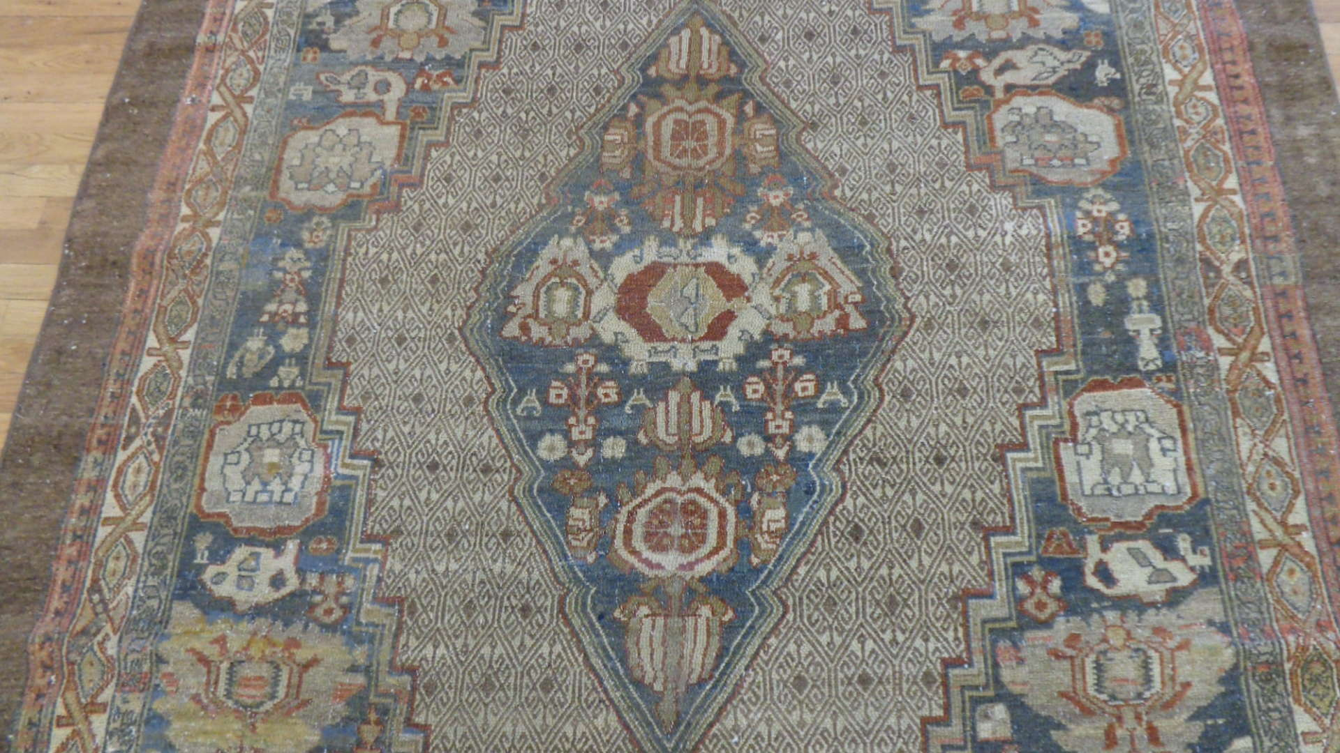 24746 antique persian malayer rug 6x10.2-2